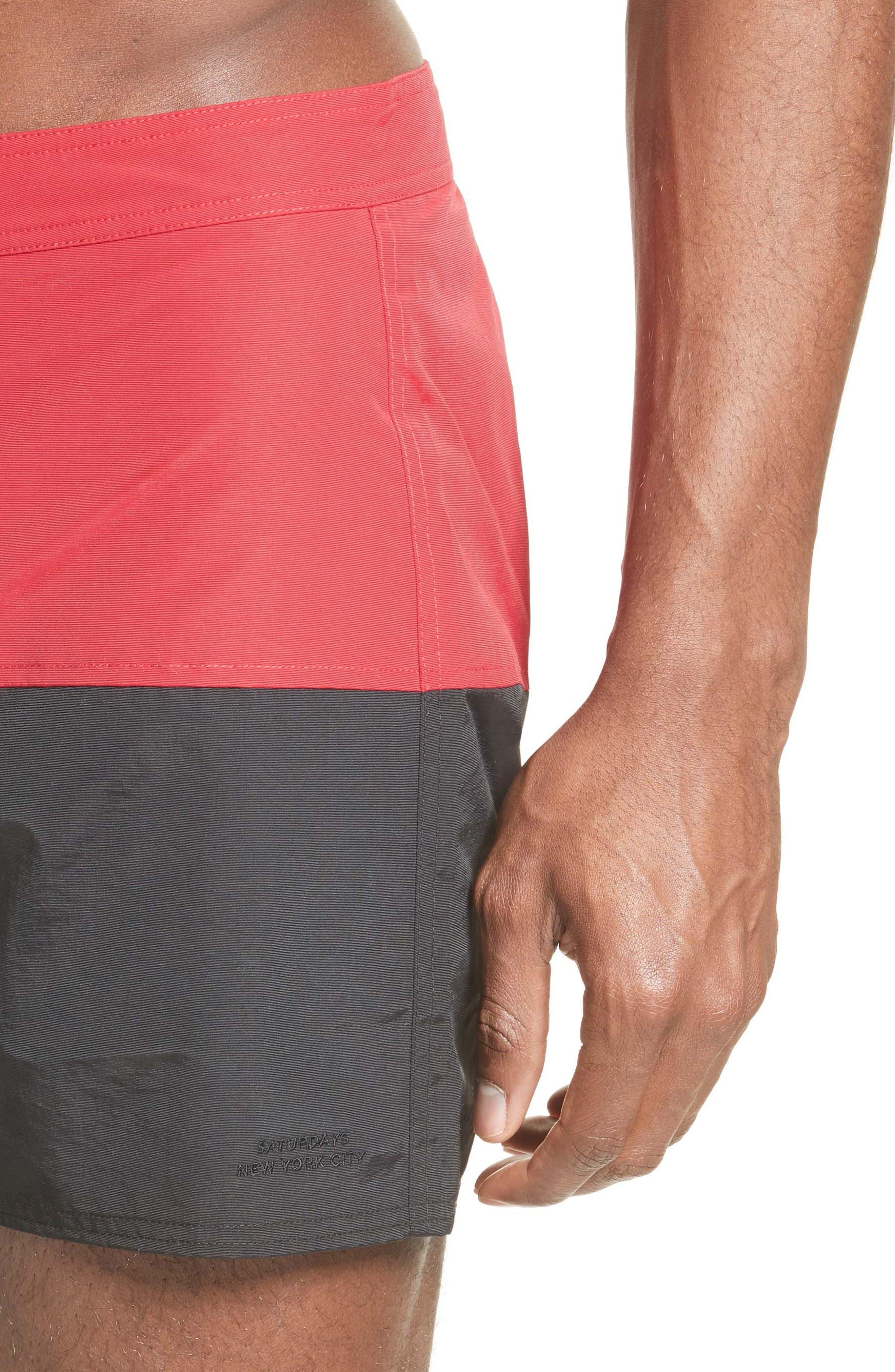 Ennis Colorblock Board Shorts,                             Alternate thumbnail 4, color,