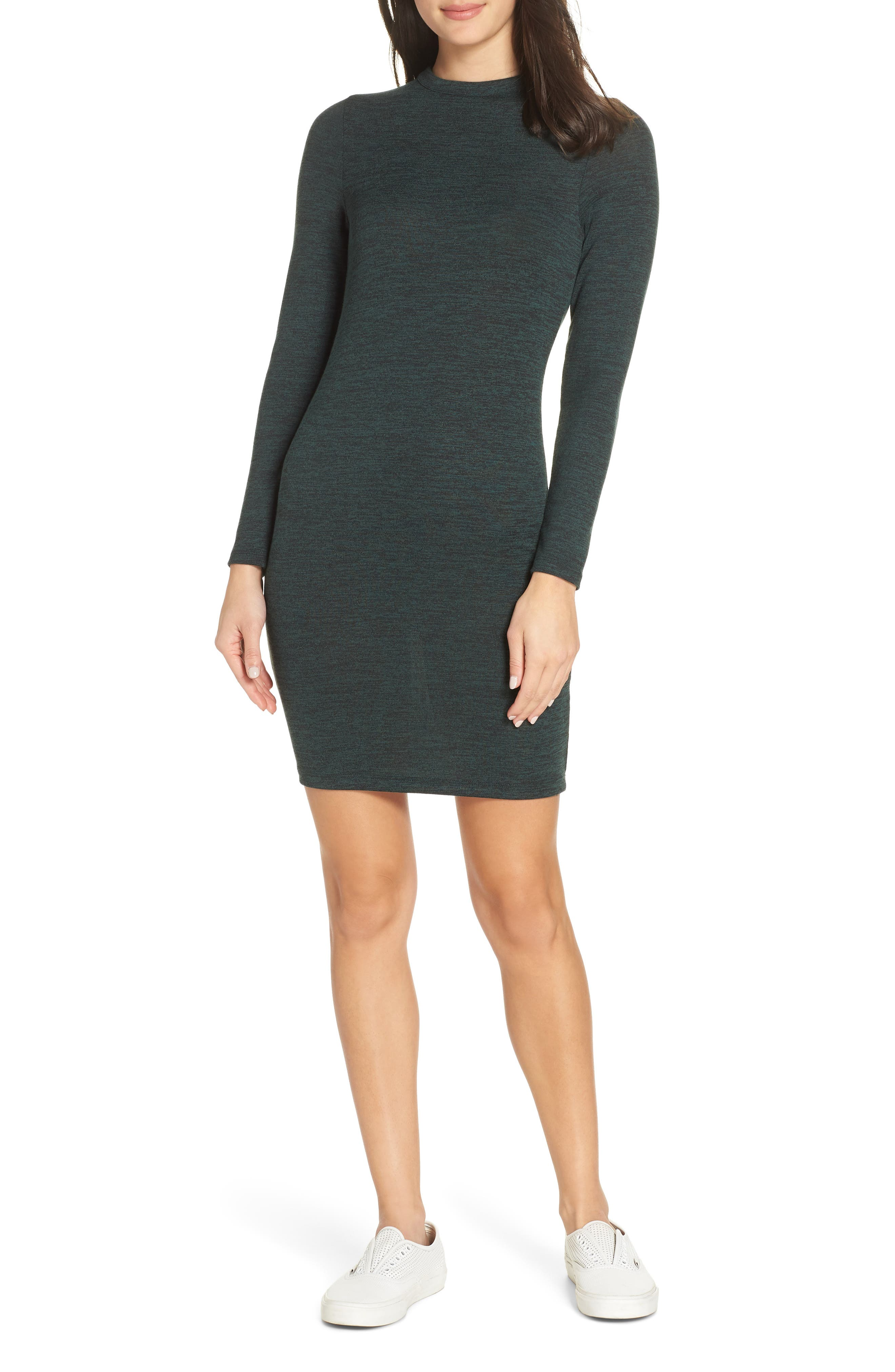 French Connection Body-Con Sweater Dress, Green