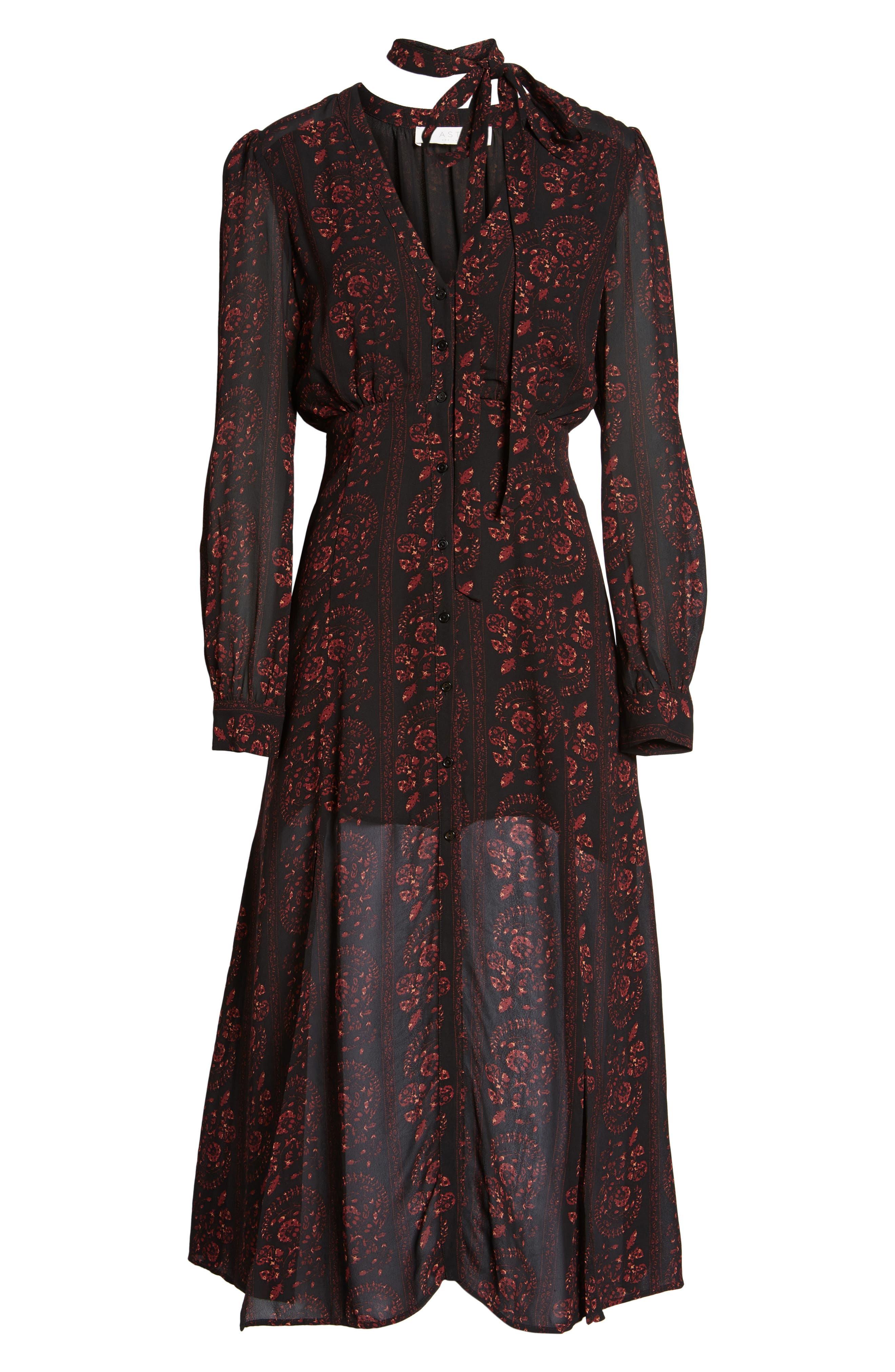 Natalie Midi Dress,                             Alternate thumbnail 6, color,                             004