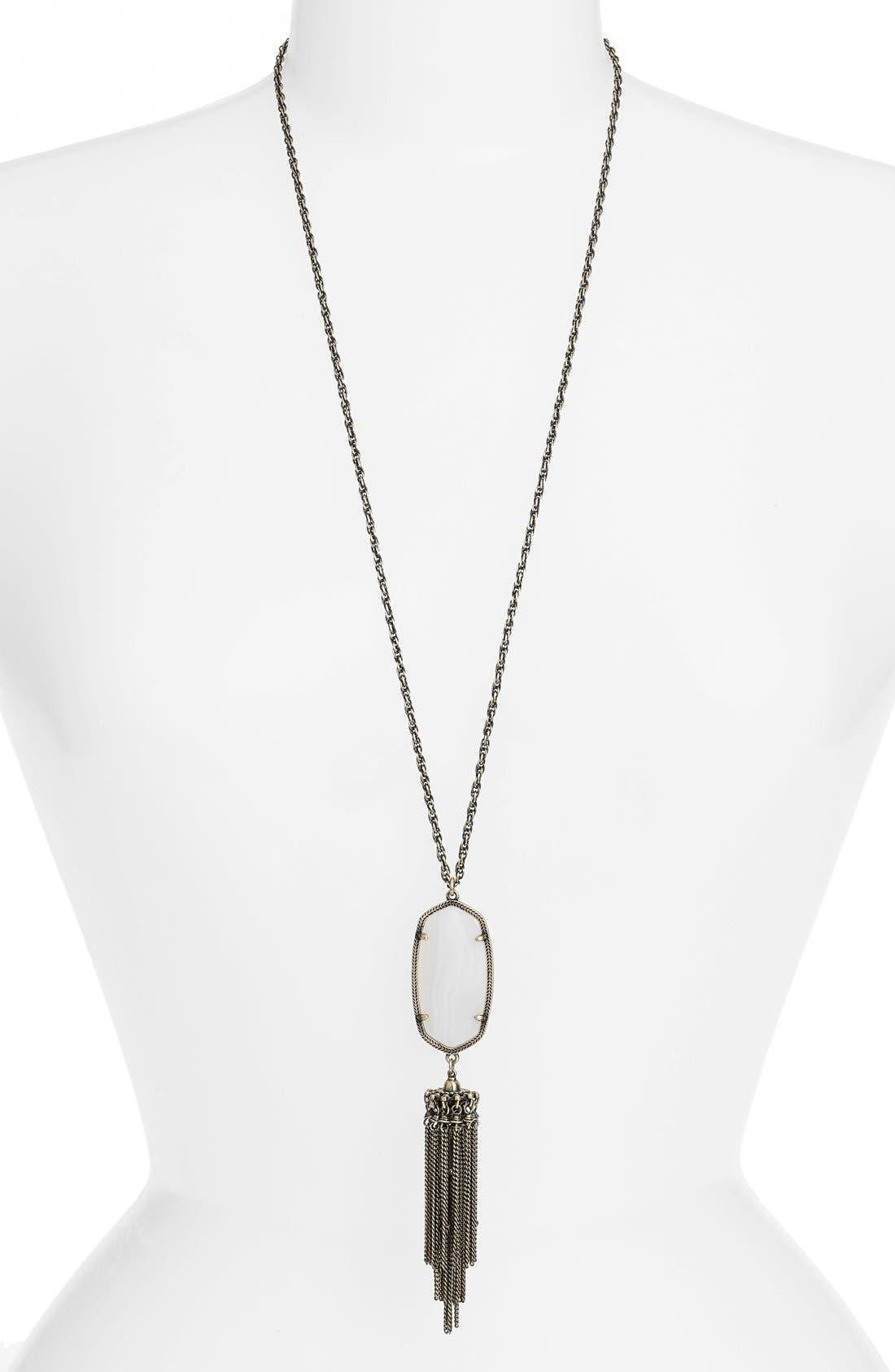 'Rayne' Tassel Pendant Necklace,                             Main thumbnail 7, color,