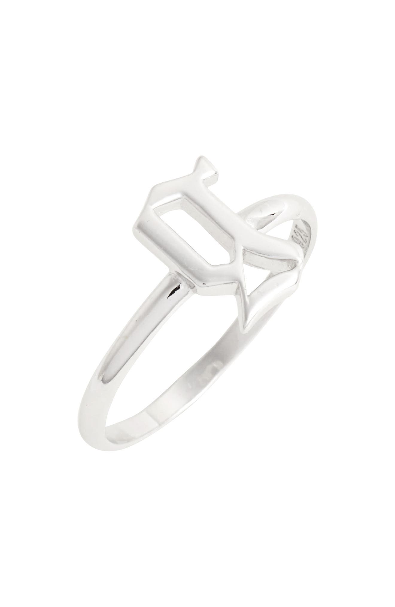 Gothic Initial Ring,                             Main thumbnail 6, color,