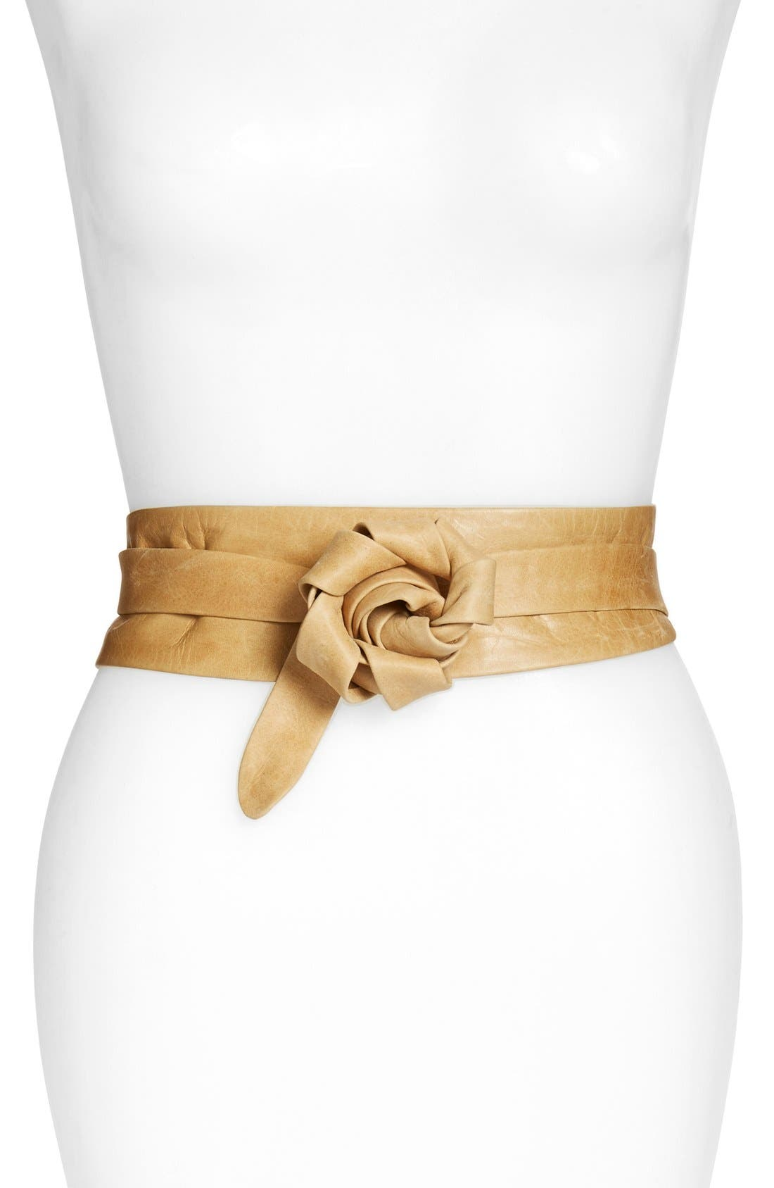 ADA,                             'Obi' Leather Wrap Belt,                             Alternate thumbnail 3, color,                             200
