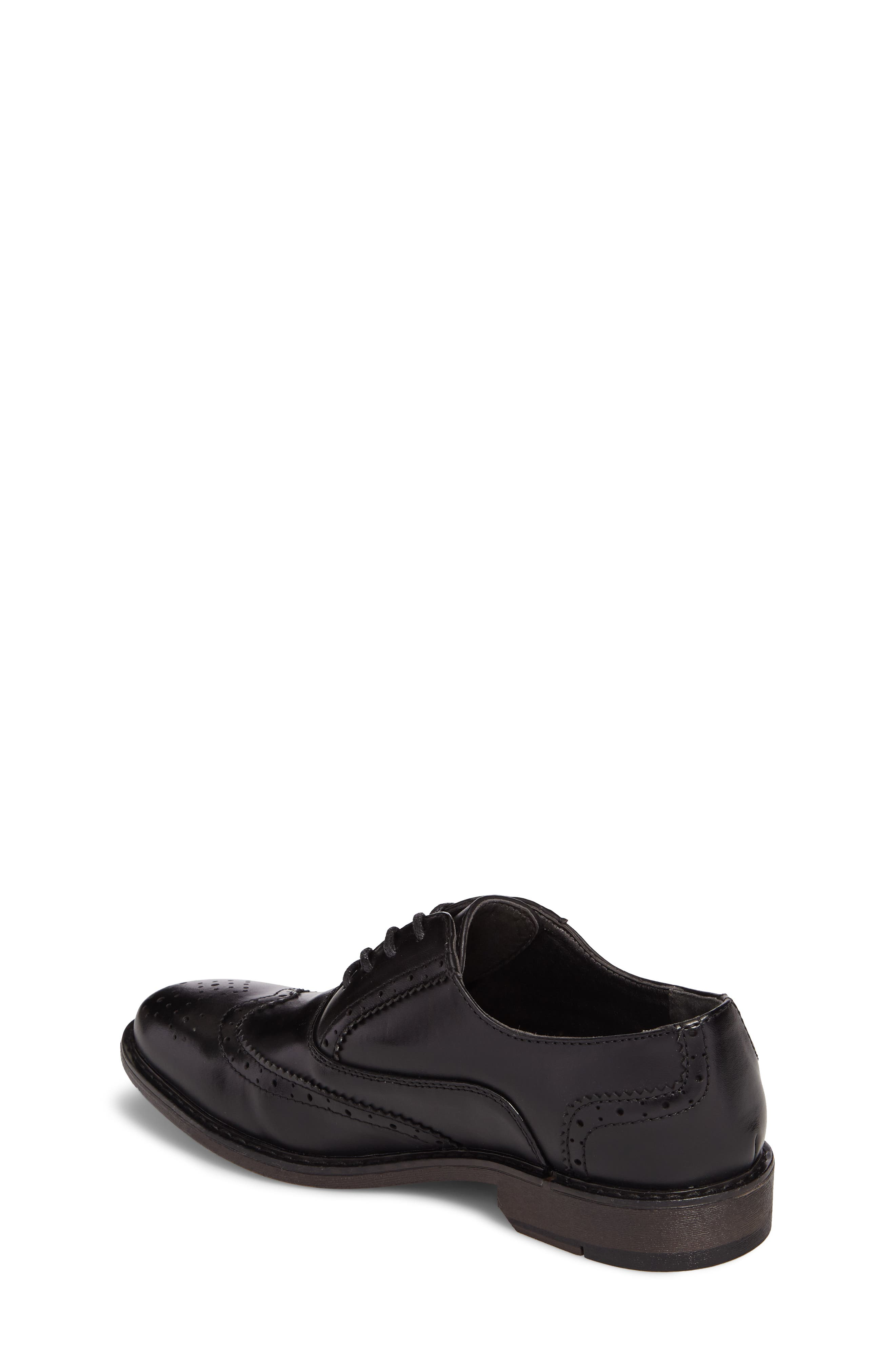 Ty Wingtip Derby,                             Alternate thumbnail 2, color,                             BLACK