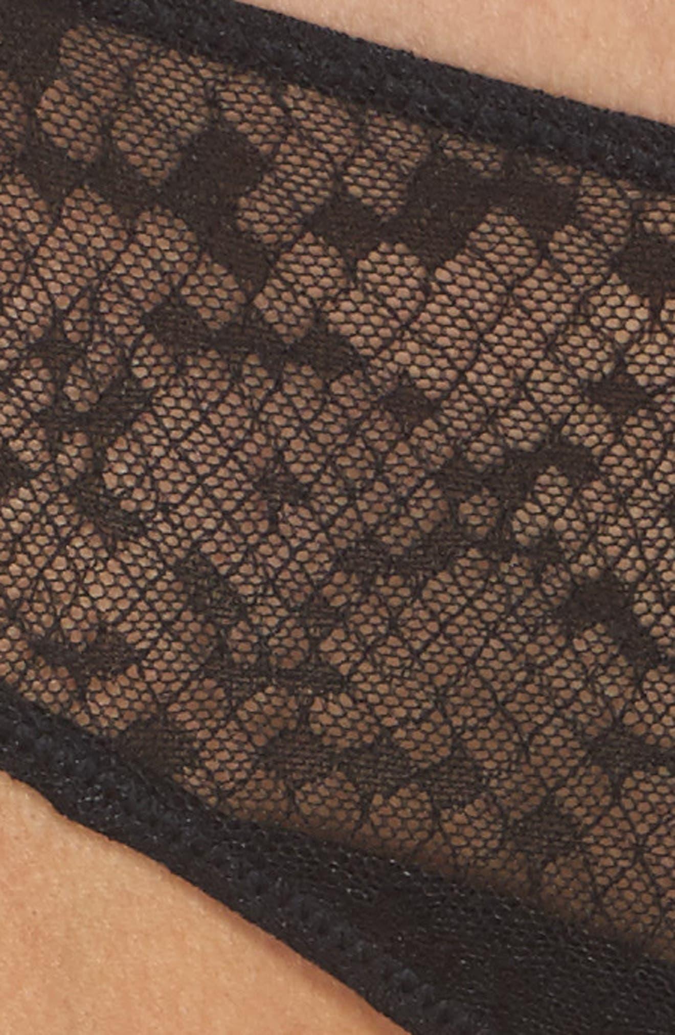 Snake Lace Panties,                             Alternate thumbnail 5, color,                             001