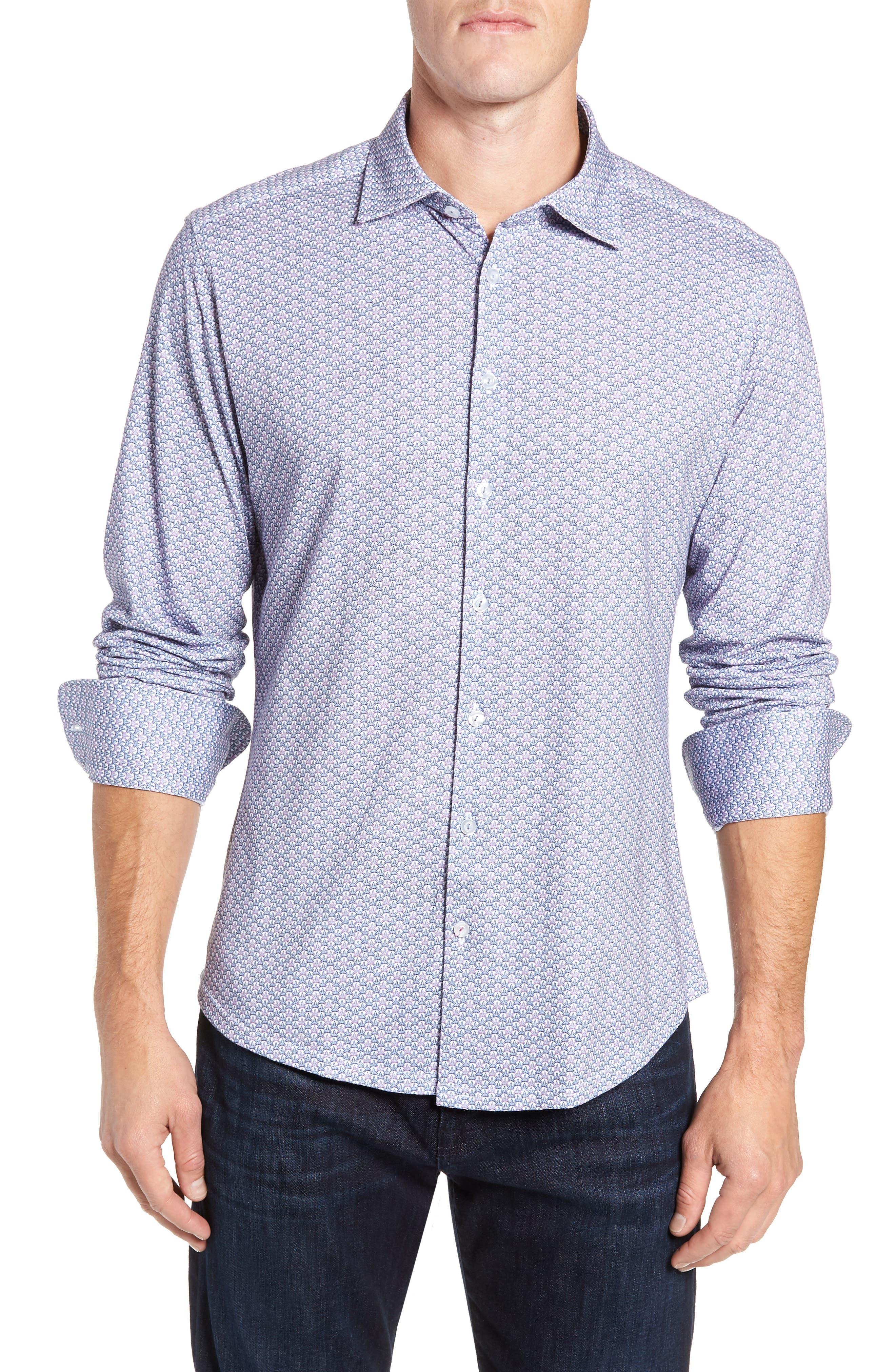 Trim Fit Knit Sport Shirt, Main, color, 100