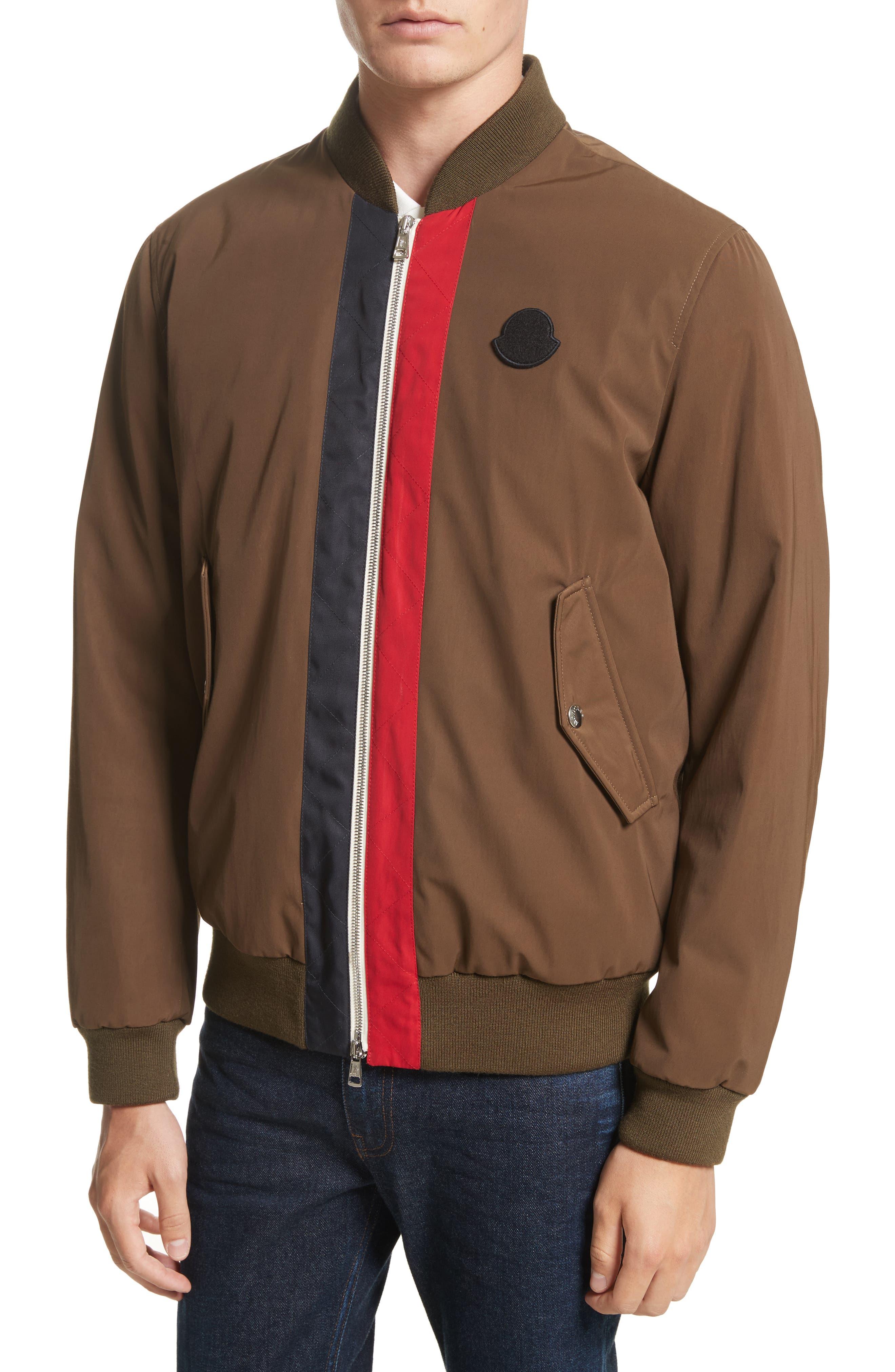 Tacna Stripe Bomber Jacket,                             Alternate thumbnail 4, color,                             300