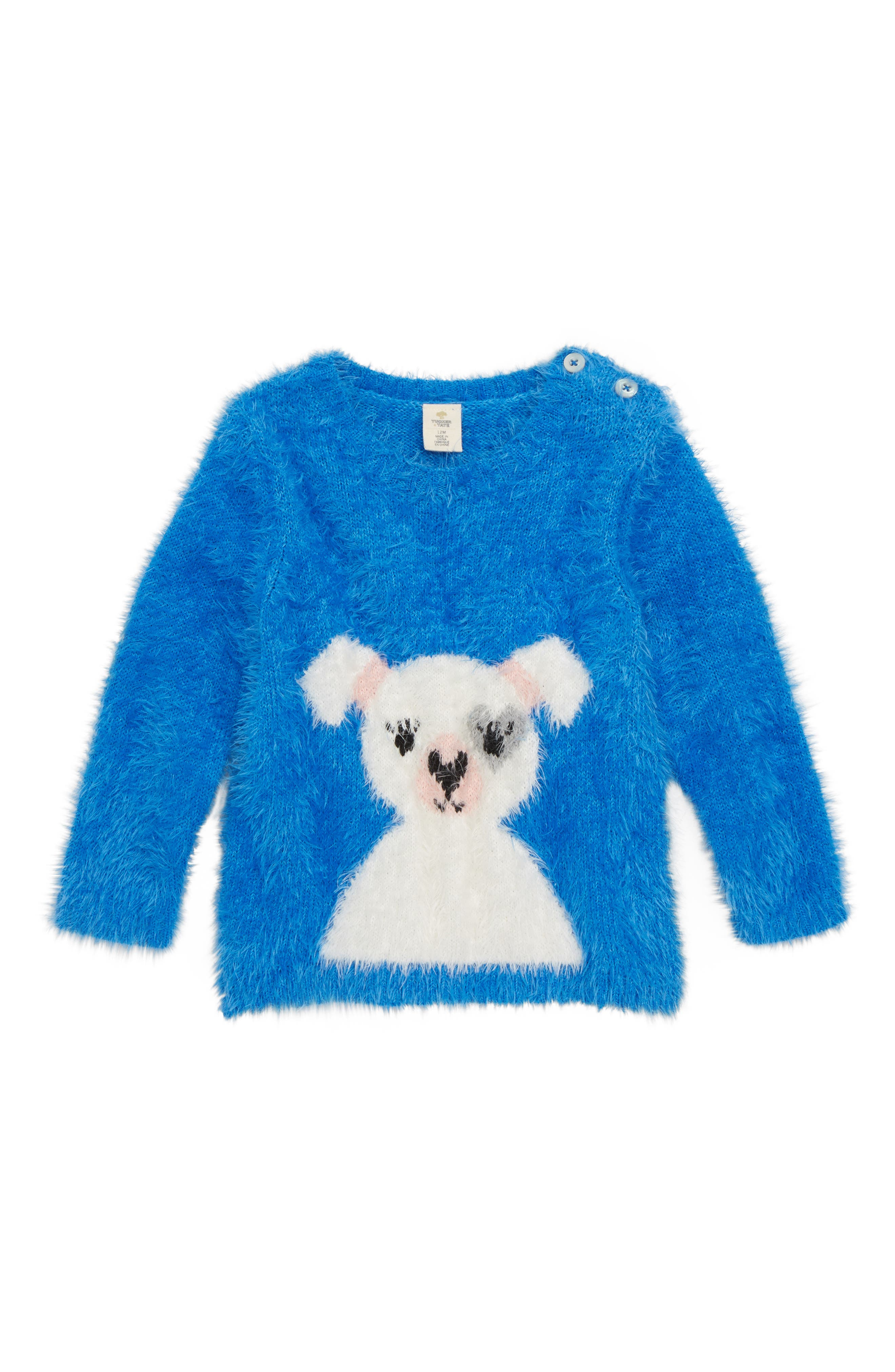 Icon Eyelash Sweater,                             Main thumbnail 1, color,                             BLUE CAMP FRENCHIE