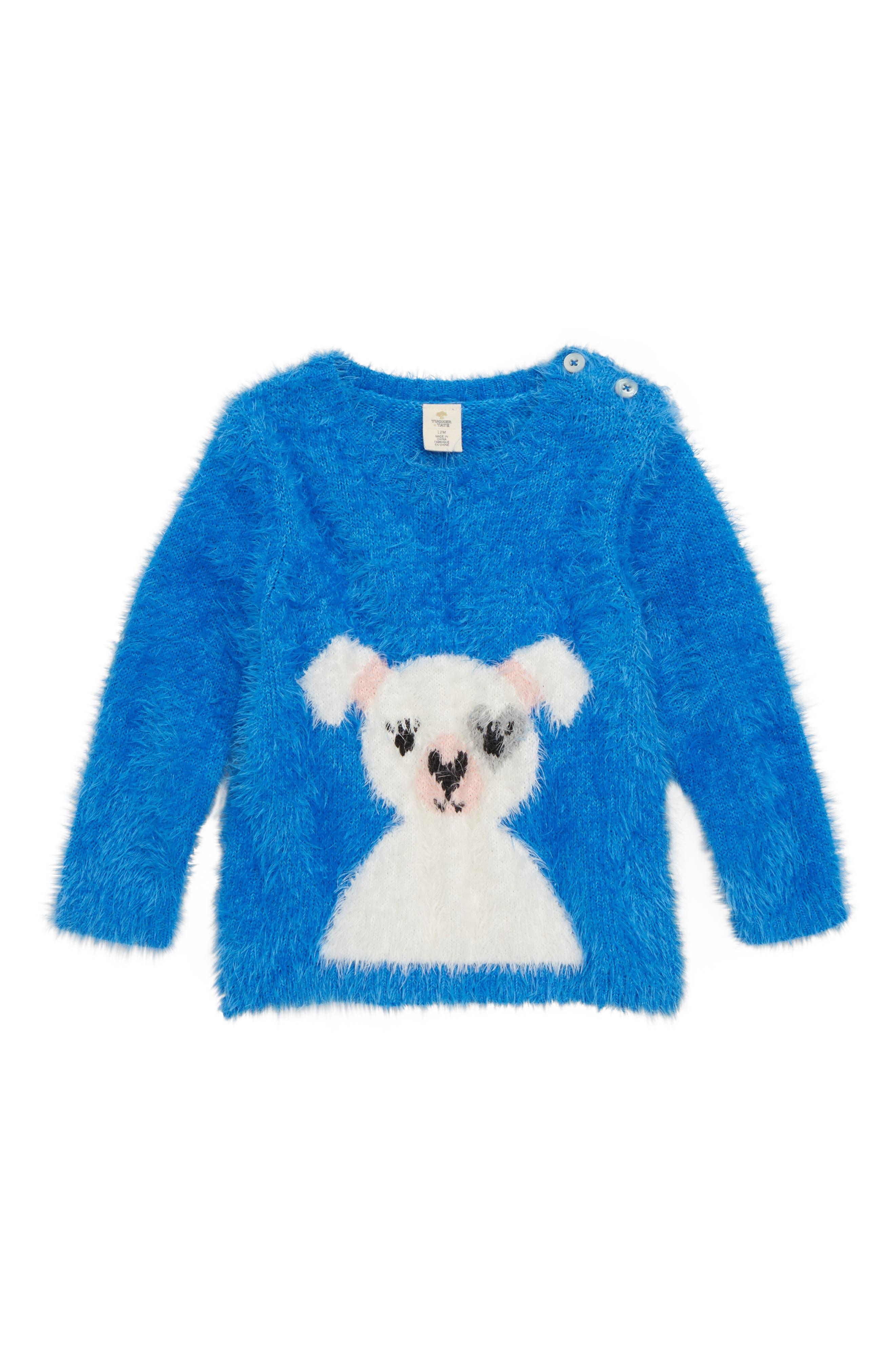 Icon Eyelash Sweater,                         Main,                         color, BLUE CAMP FRENCHIE
