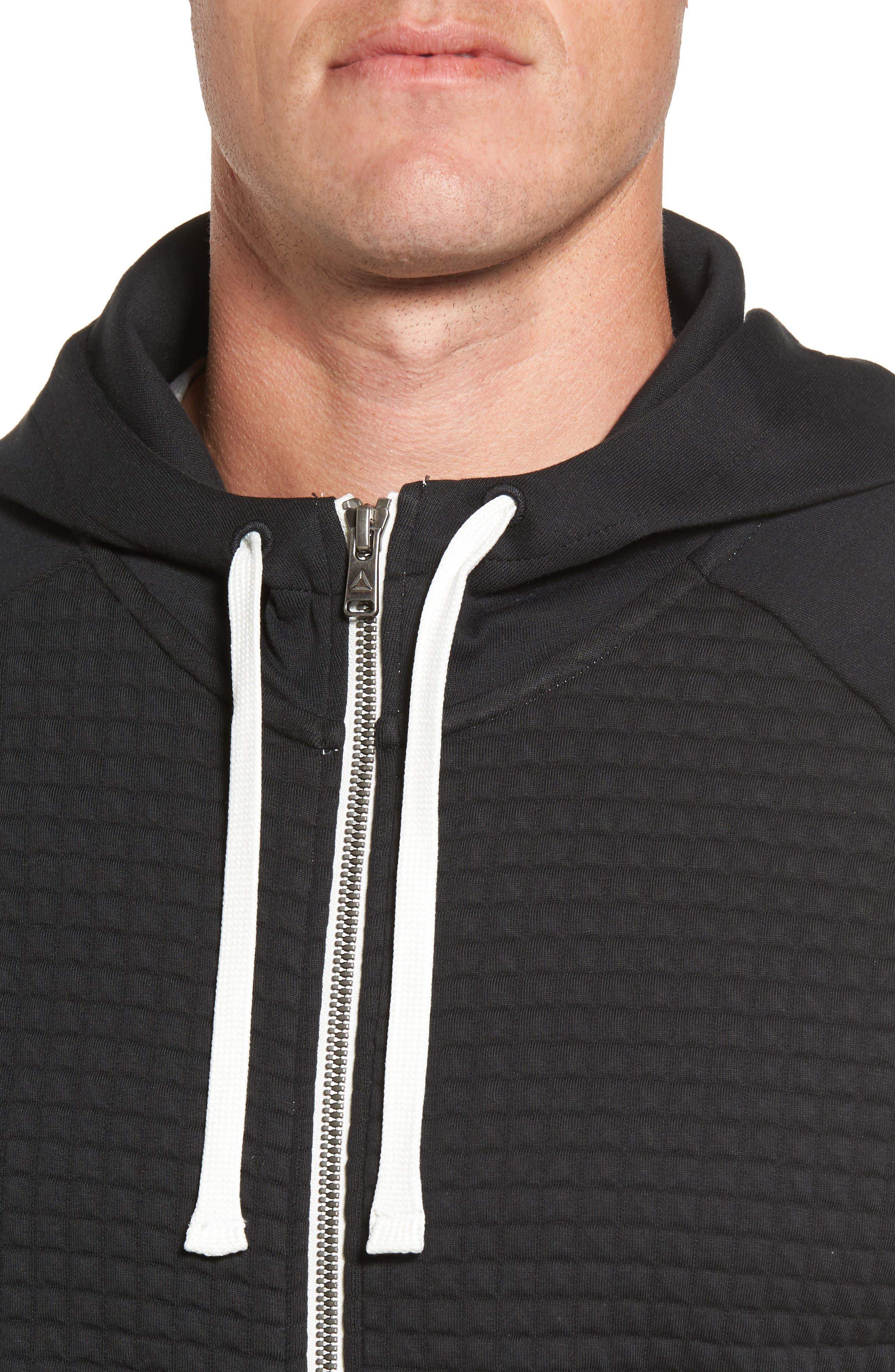 Classic Quilted Zip Hoodie,                             Alternate thumbnail 10, color,
