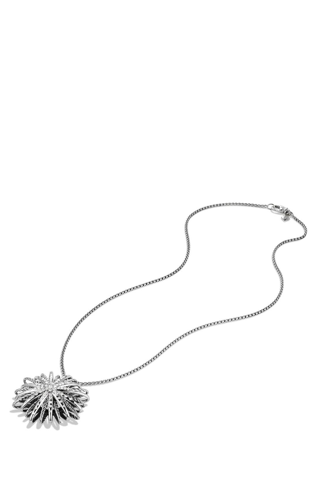 'Starburst' Large Pendant with Diamonds on Chain,                             Alternate thumbnail 3, color,                             DIAMOND