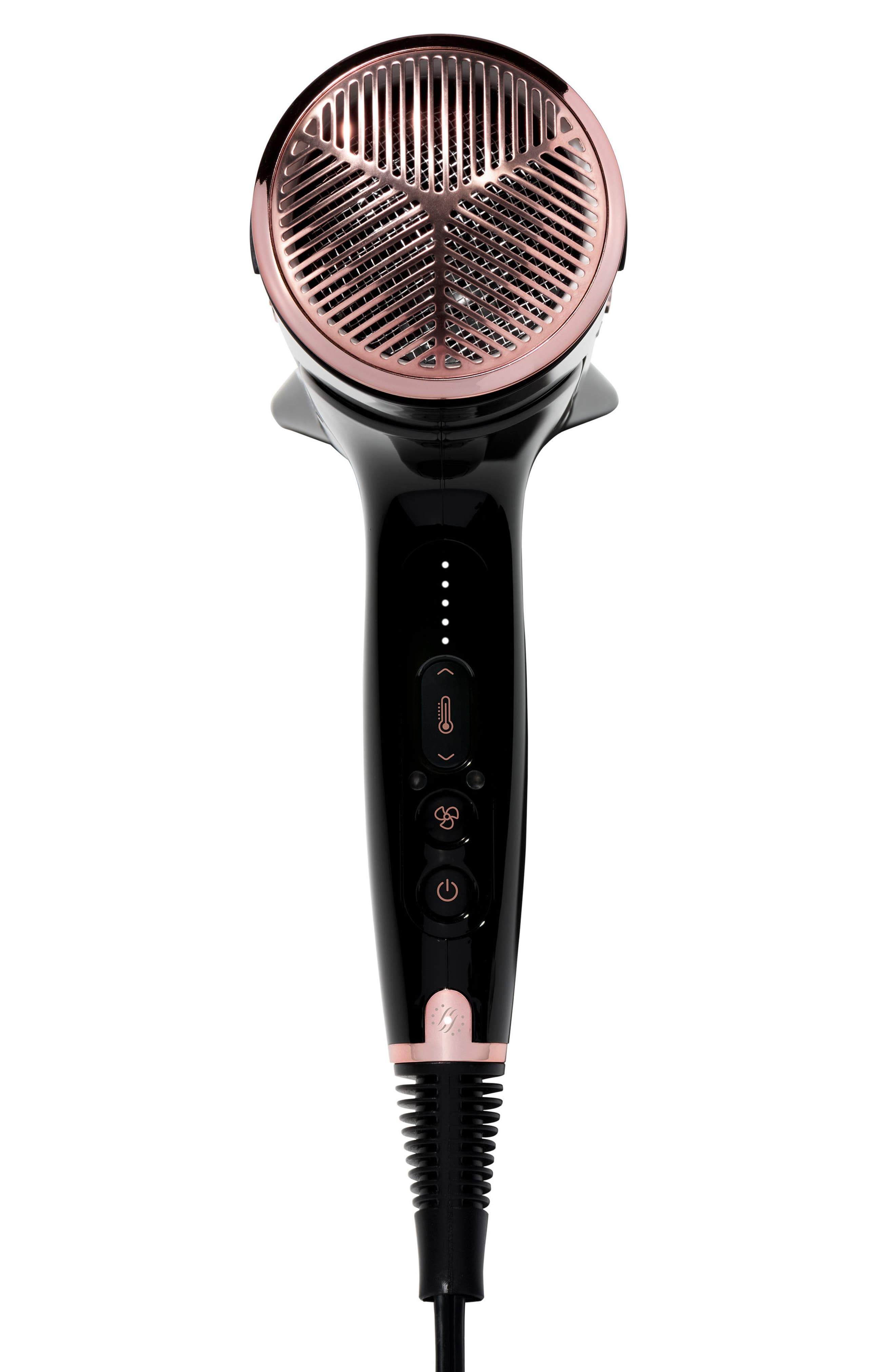 Cura LUXE Hair Dryer,                             Alternate thumbnail 2, color,                             BLACK/ ROSE GOLD