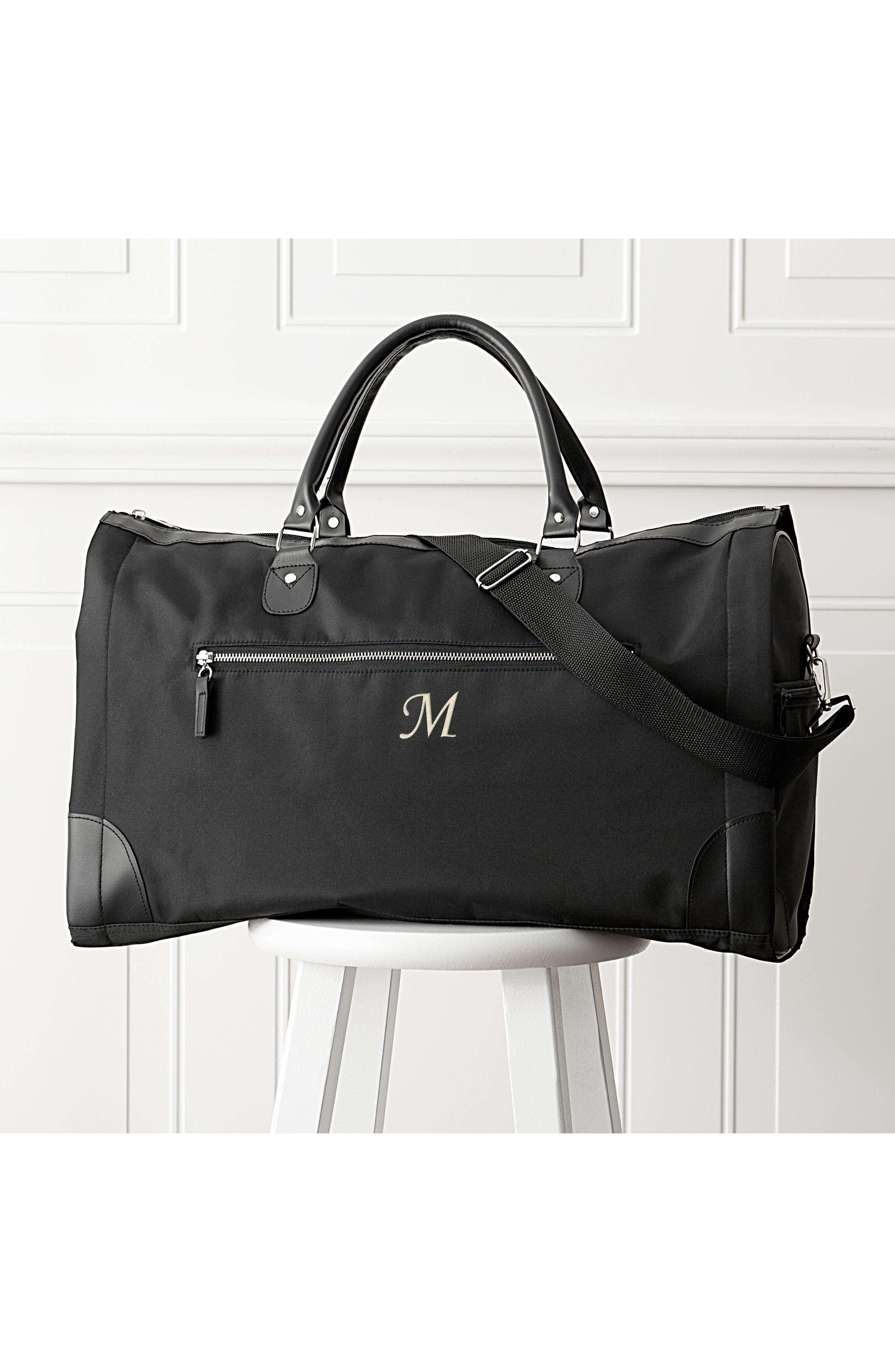 Monogram Duffel/Garment Bag,                             Alternate thumbnail 8, color,                             BLACK