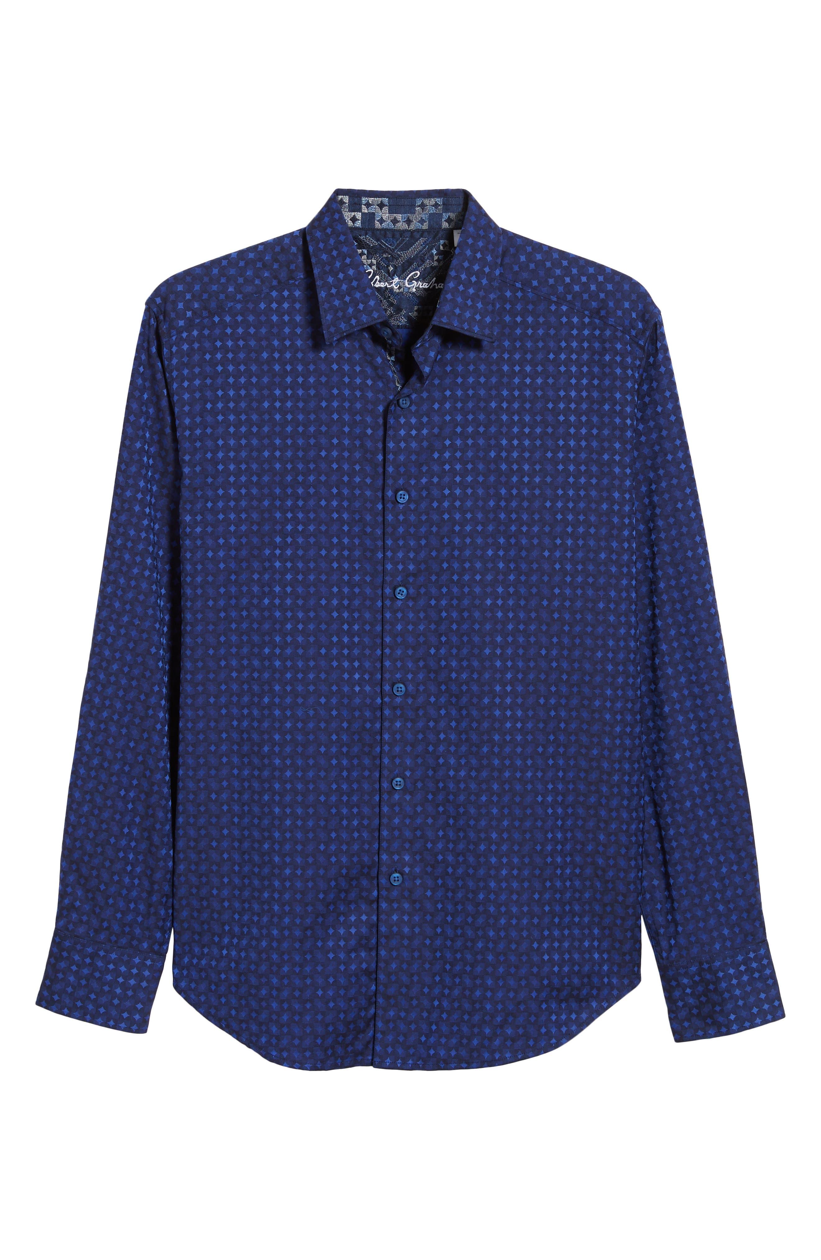 Harris Classic Fit Sport Shirt,                             Alternate thumbnail 5, color,                             BLUE