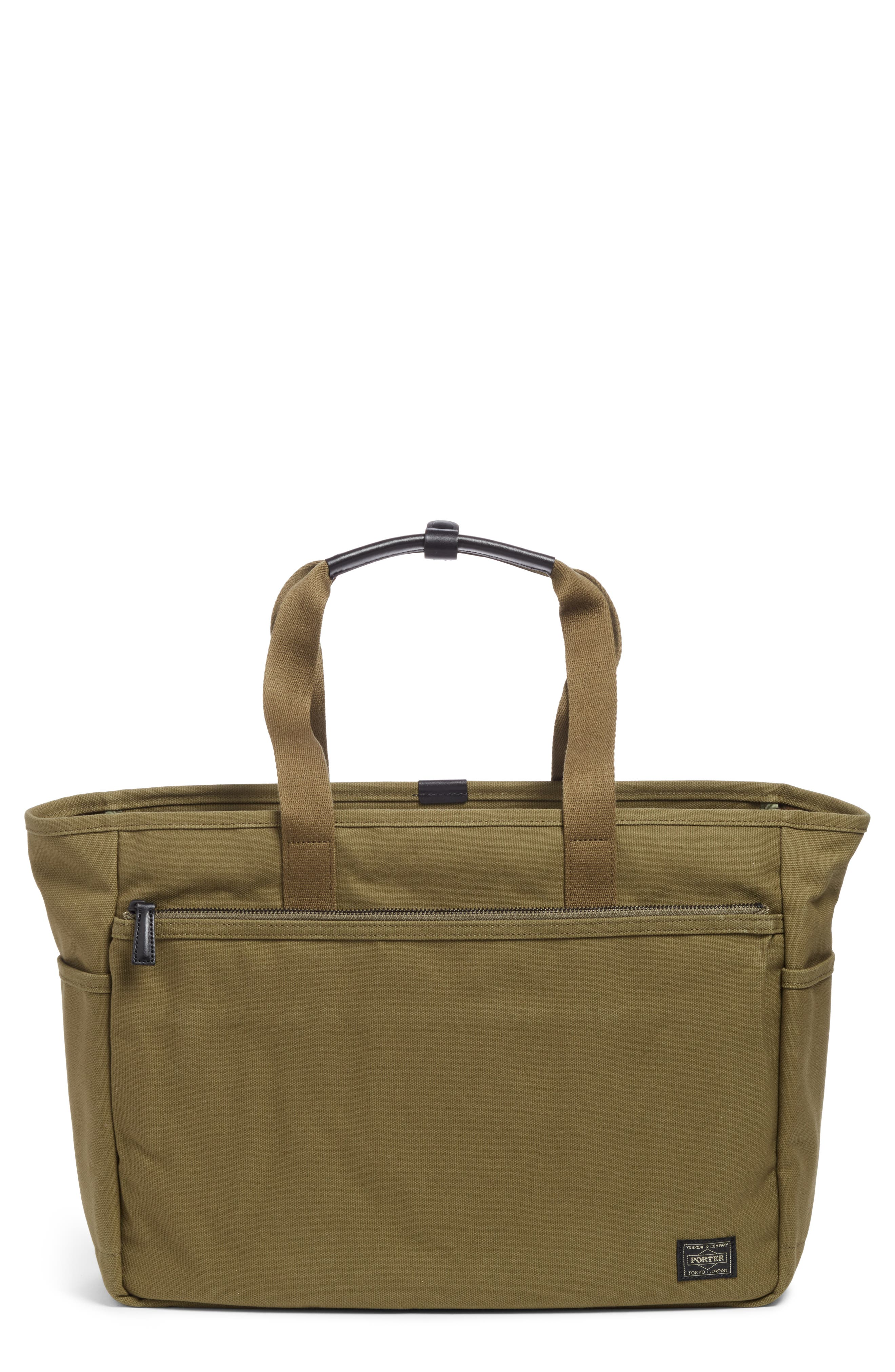 x Porter Travel Tote Bag, Main, color, OLIVE