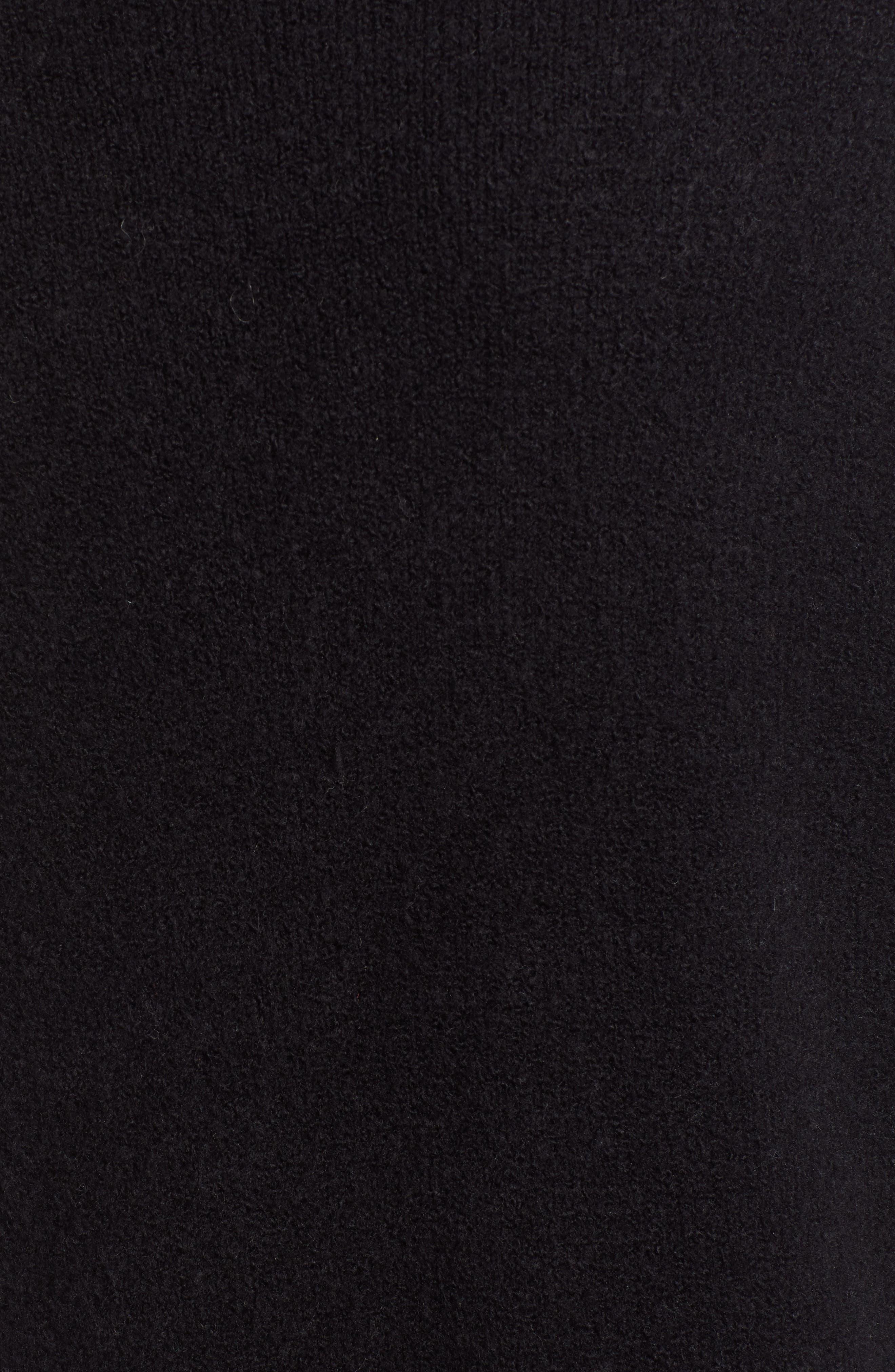 HALOGEN<SUP>®</SUP>,                             Long Open Front Cardigan,                             Alternate thumbnail 5, color,                             BLACK