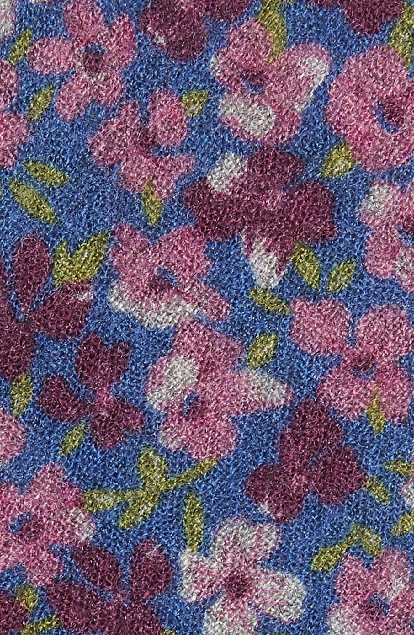 Garden Bloom Floral Wool Tie,                             Alternate thumbnail 2, color,                             BLUE