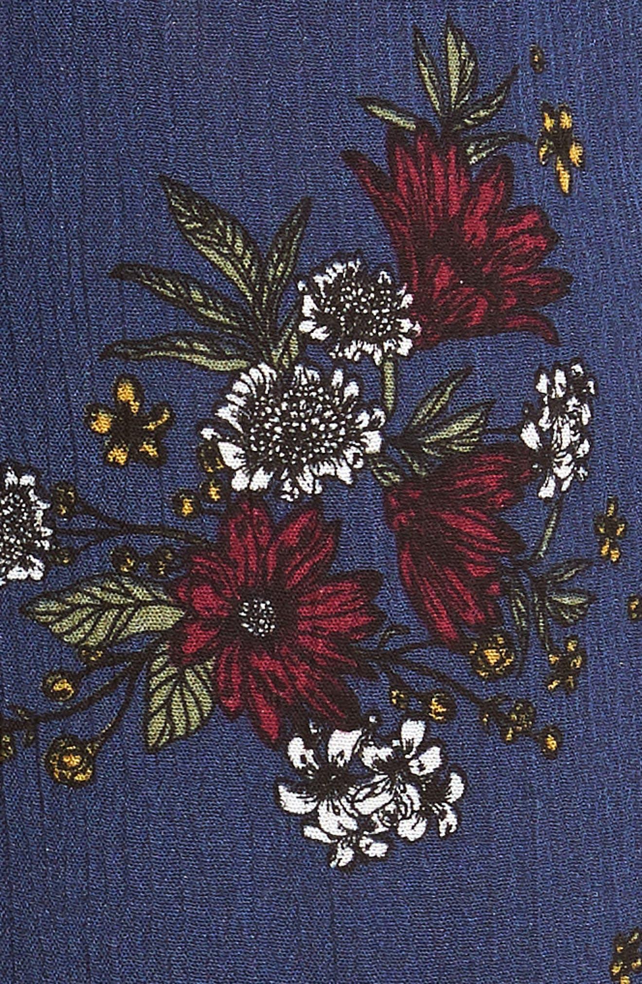 See Me Print Midi Dress,                             Alternate thumbnail 5, color,                             400