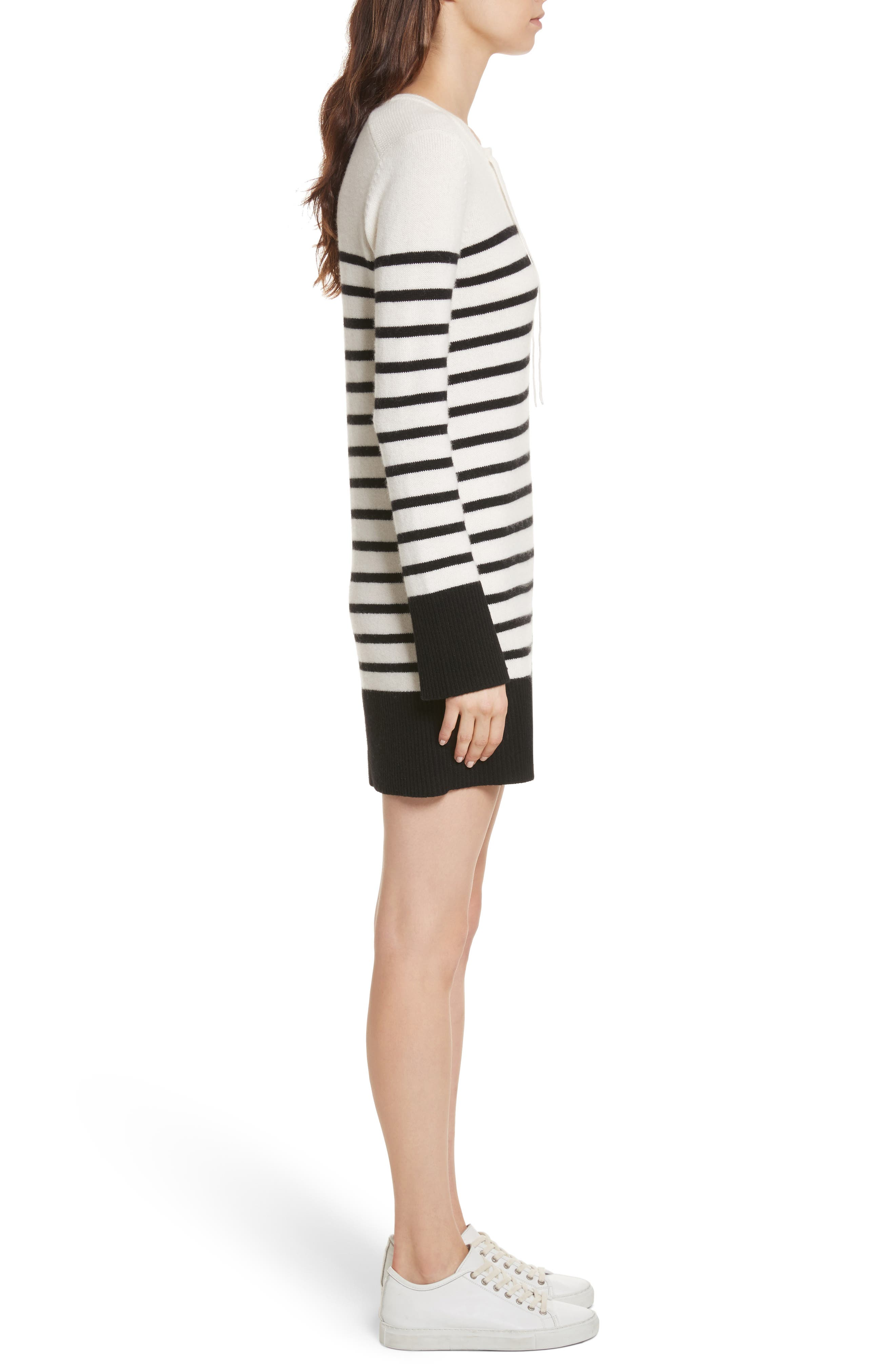 Heltan Wool & Cashmere Sweater Dress,                             Alternate thumbnail 3, color,                             123