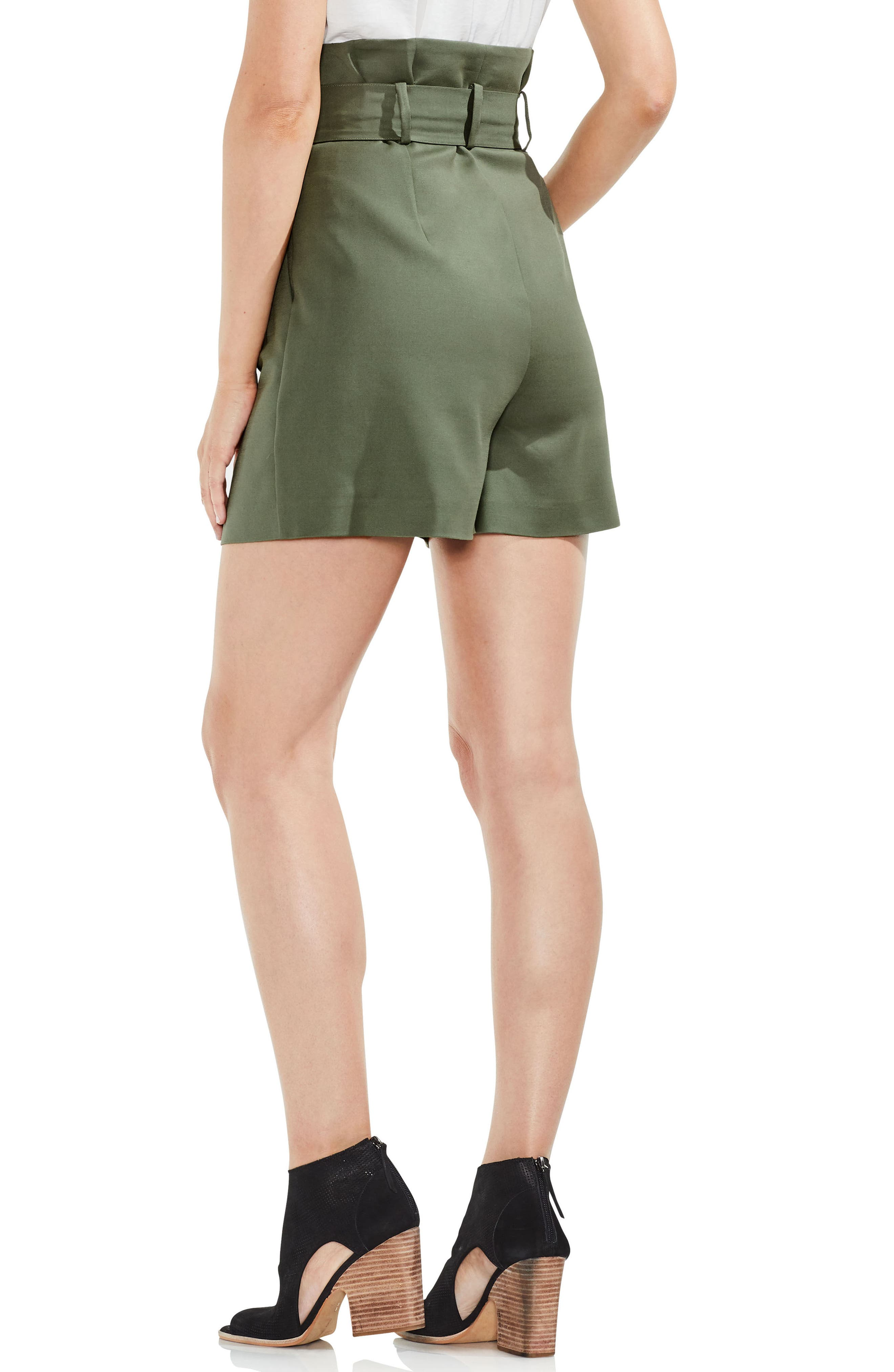Belted High Waist Shorts,                             Alternate thumbnail 4, color,