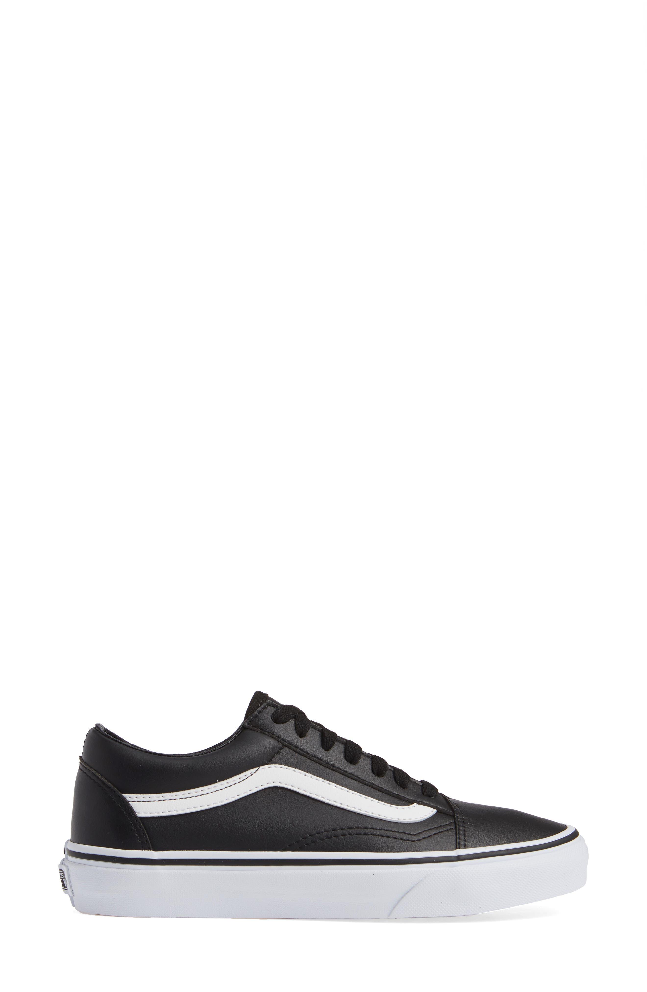 Old Skool Tumble Sneaker,                             Alternate thumbnail 3, color,                             BLACK/ TRUE WHITE