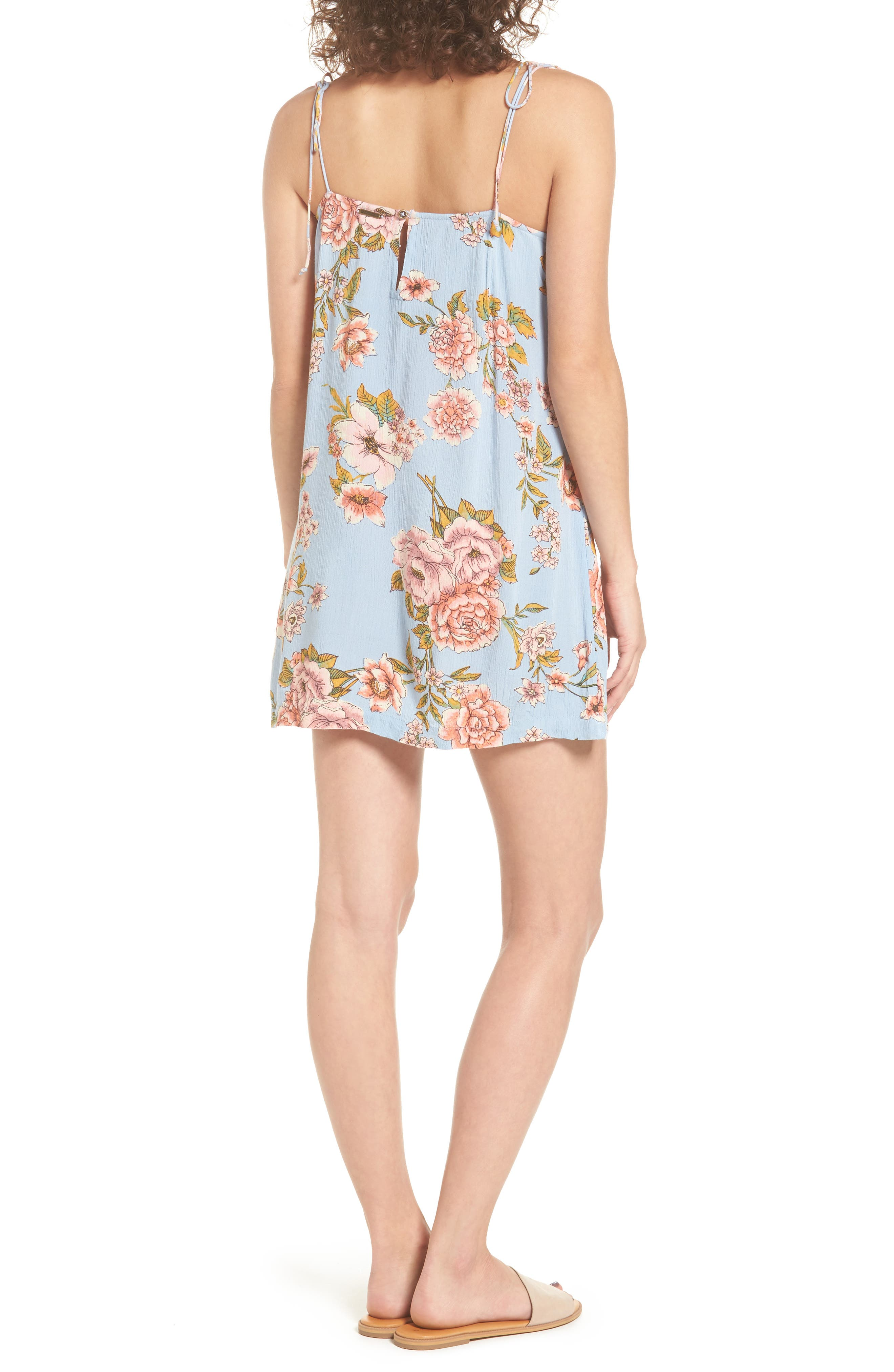 Night Out Floral Camisole Dress,                             Alternate thumbnail 2, color,                             488
