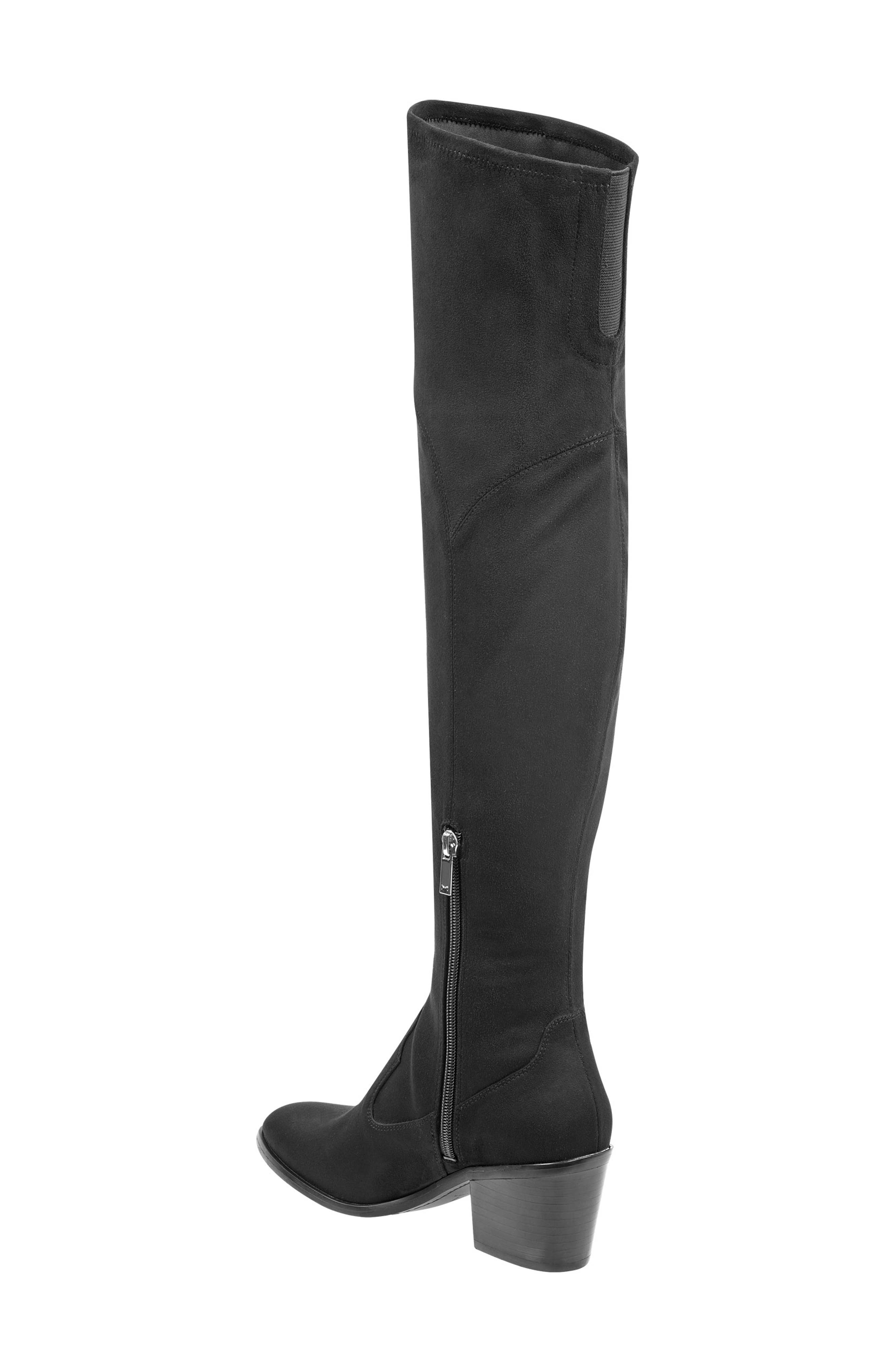 Rossa Over the Knee Boot,                             Alternate thumbnail 2, color,                             BLACK SUEDE