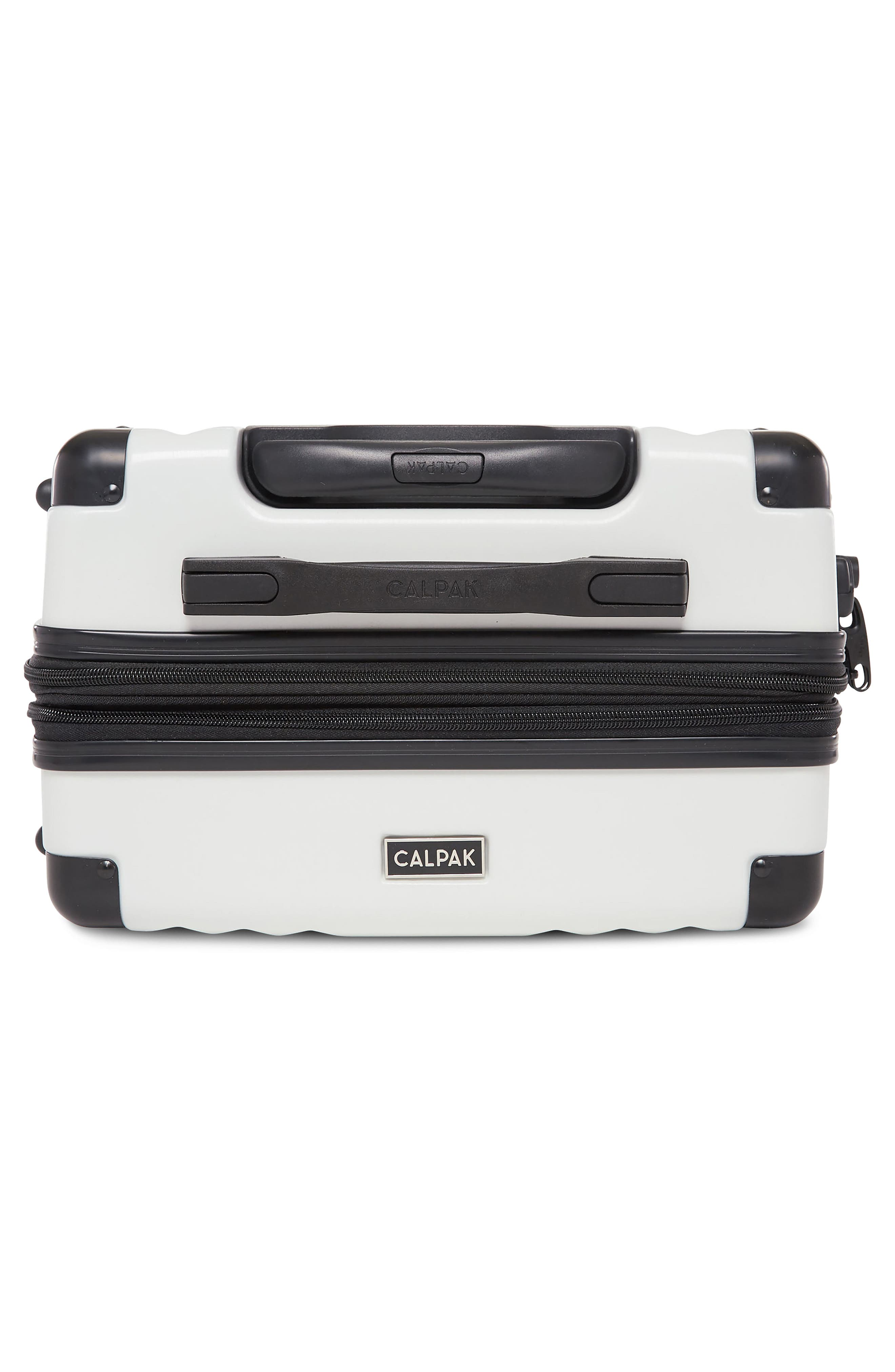 Ambeur 20-Inch Rolling Spinner Carry-On,                             Alternate thumbnail 5, color,                             WHITE