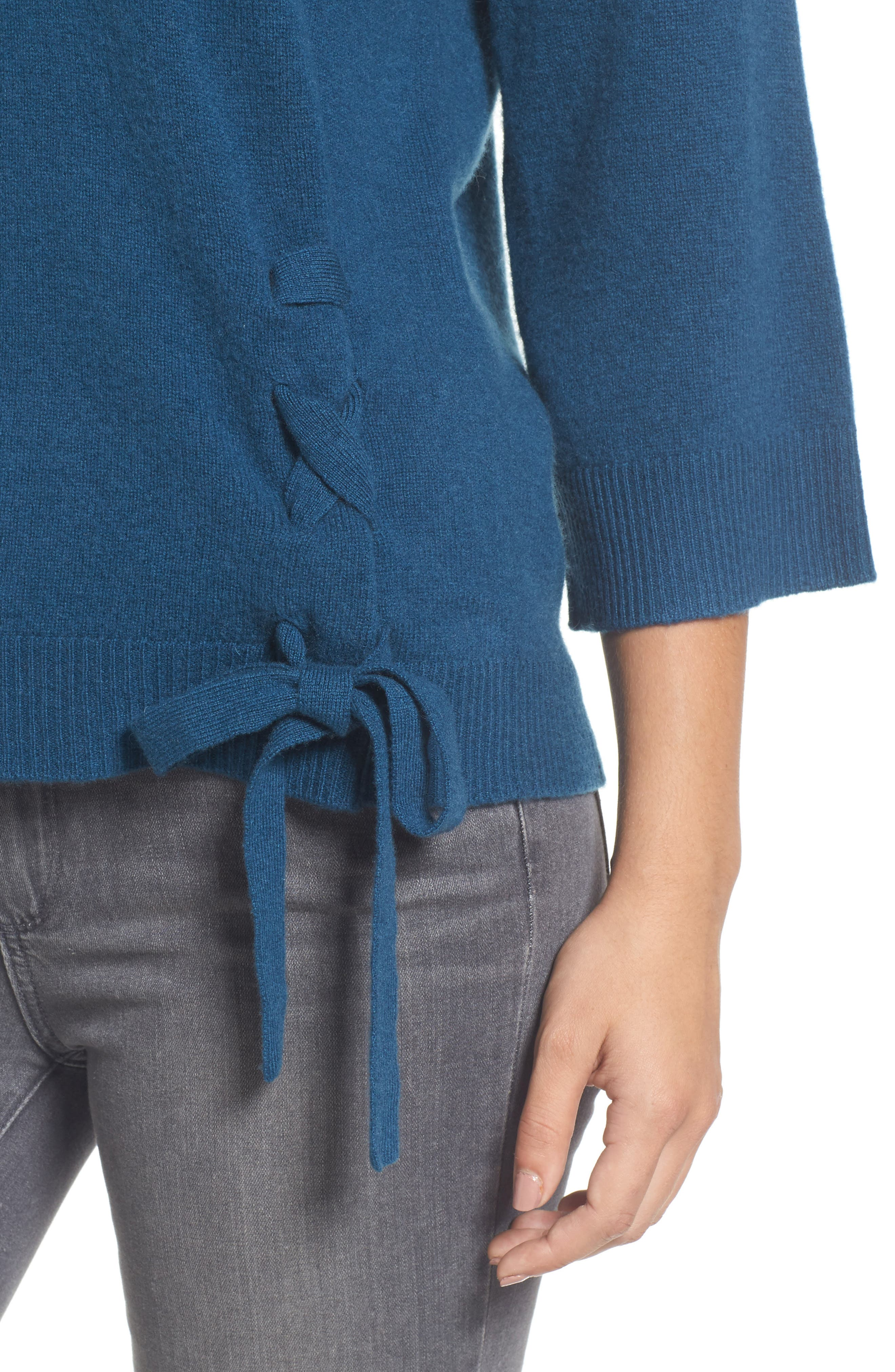 Side Tie Wool and Cashmere Sweater,                             Alternate thumbnail 21, color,