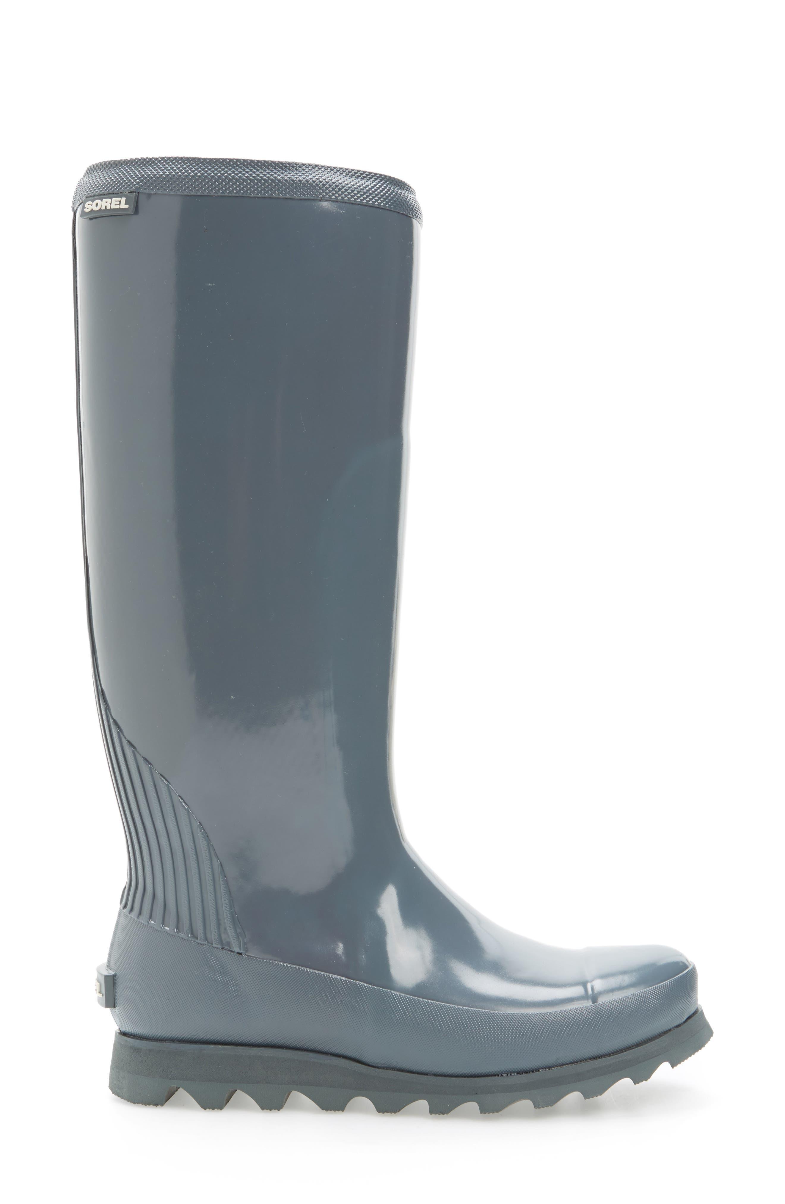 Joan Glossy Tall Rain Boot,                             Alternate thumbnail 6, color,