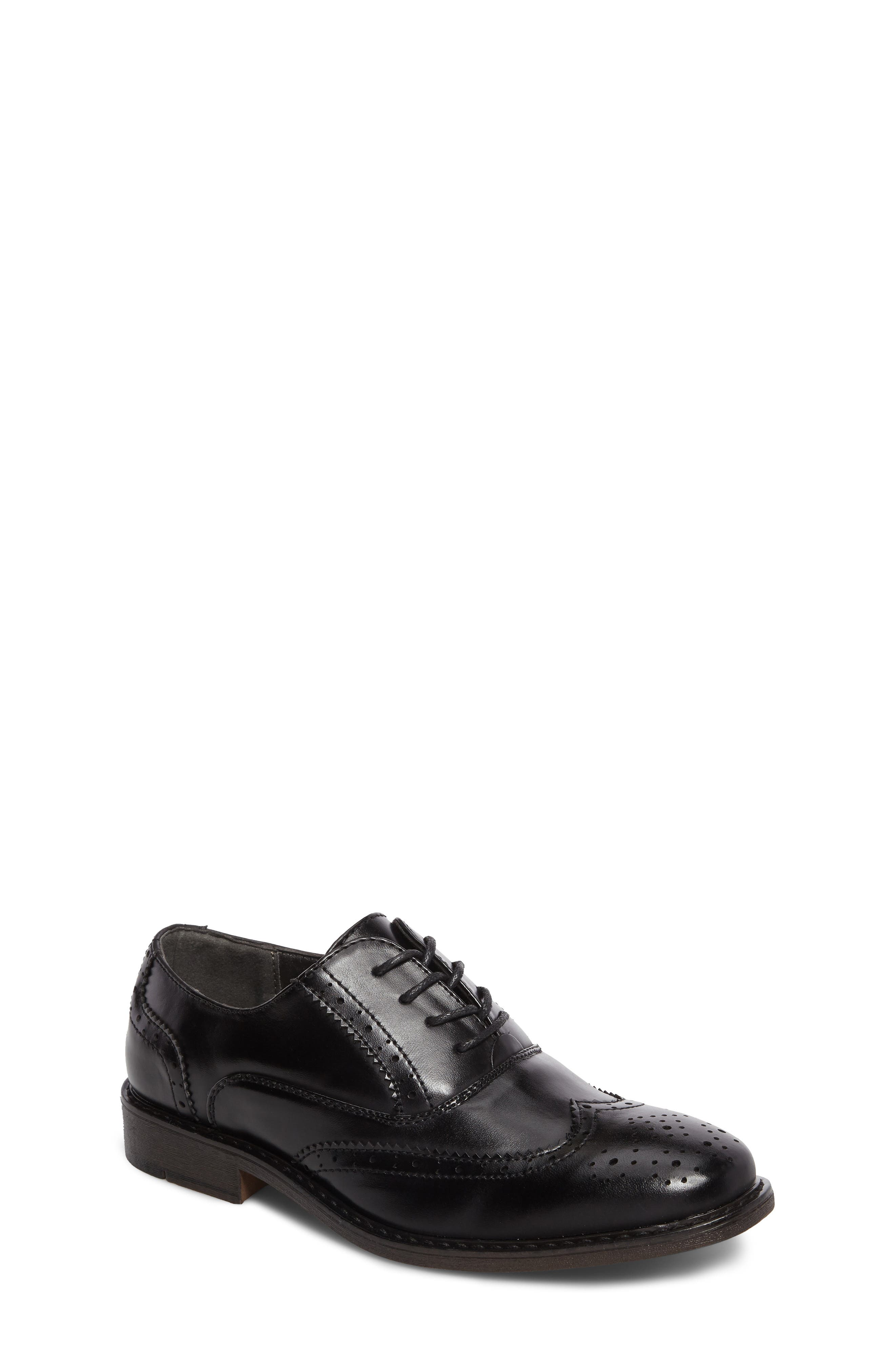 Ty Wingtip Derby,                             Main thumbnail 1, color,                             BLACK