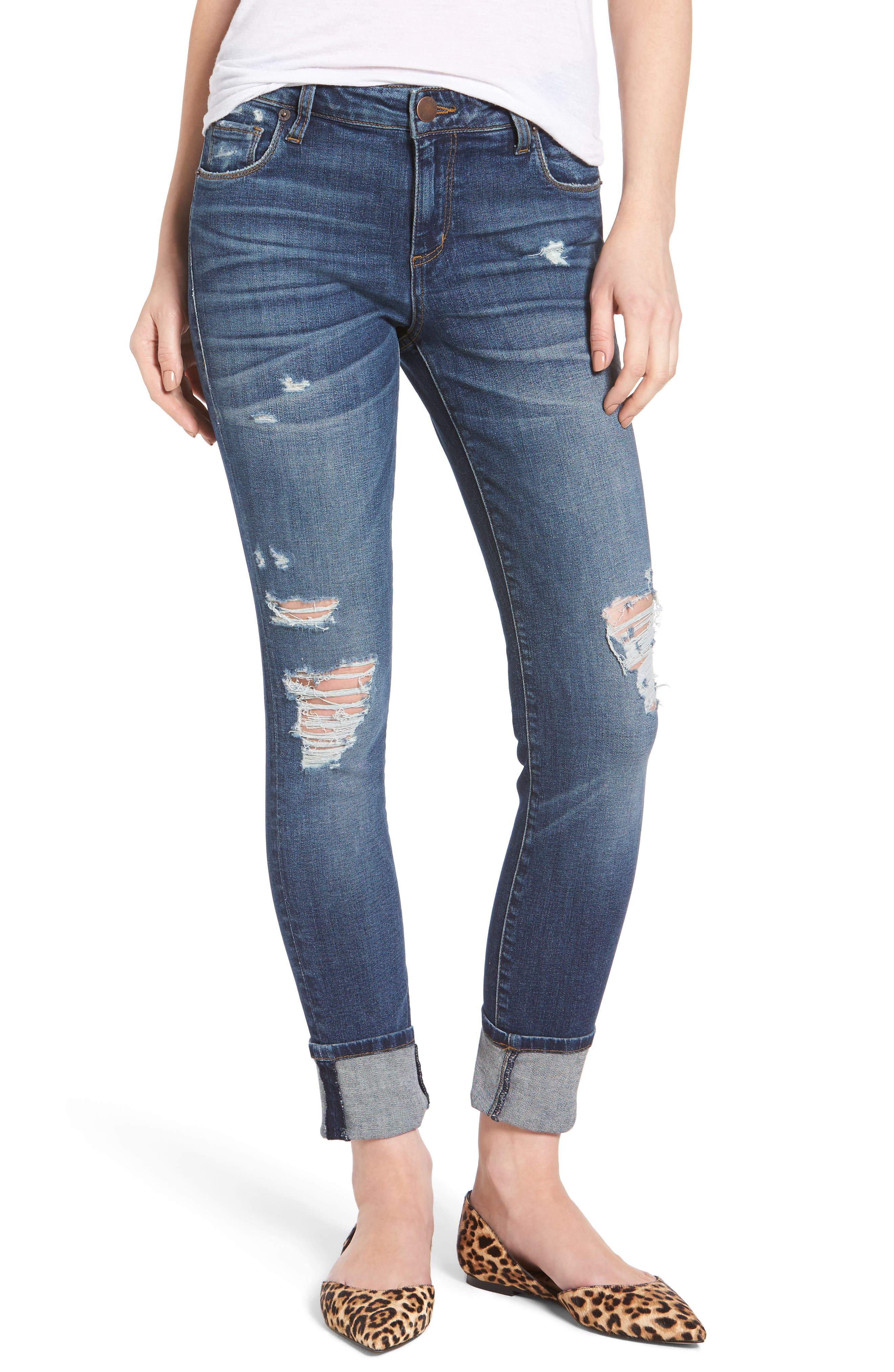 Taylor Tomboy Ripped Boyfriend Jeans, Main, color, 400