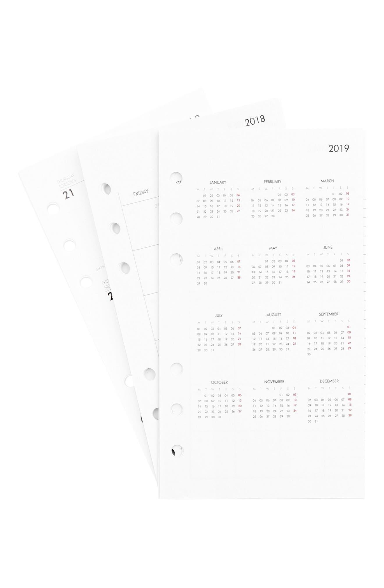2018 Medium Planner Refill Pack,                             Alternate thumbnail 2, color,                             WHITE