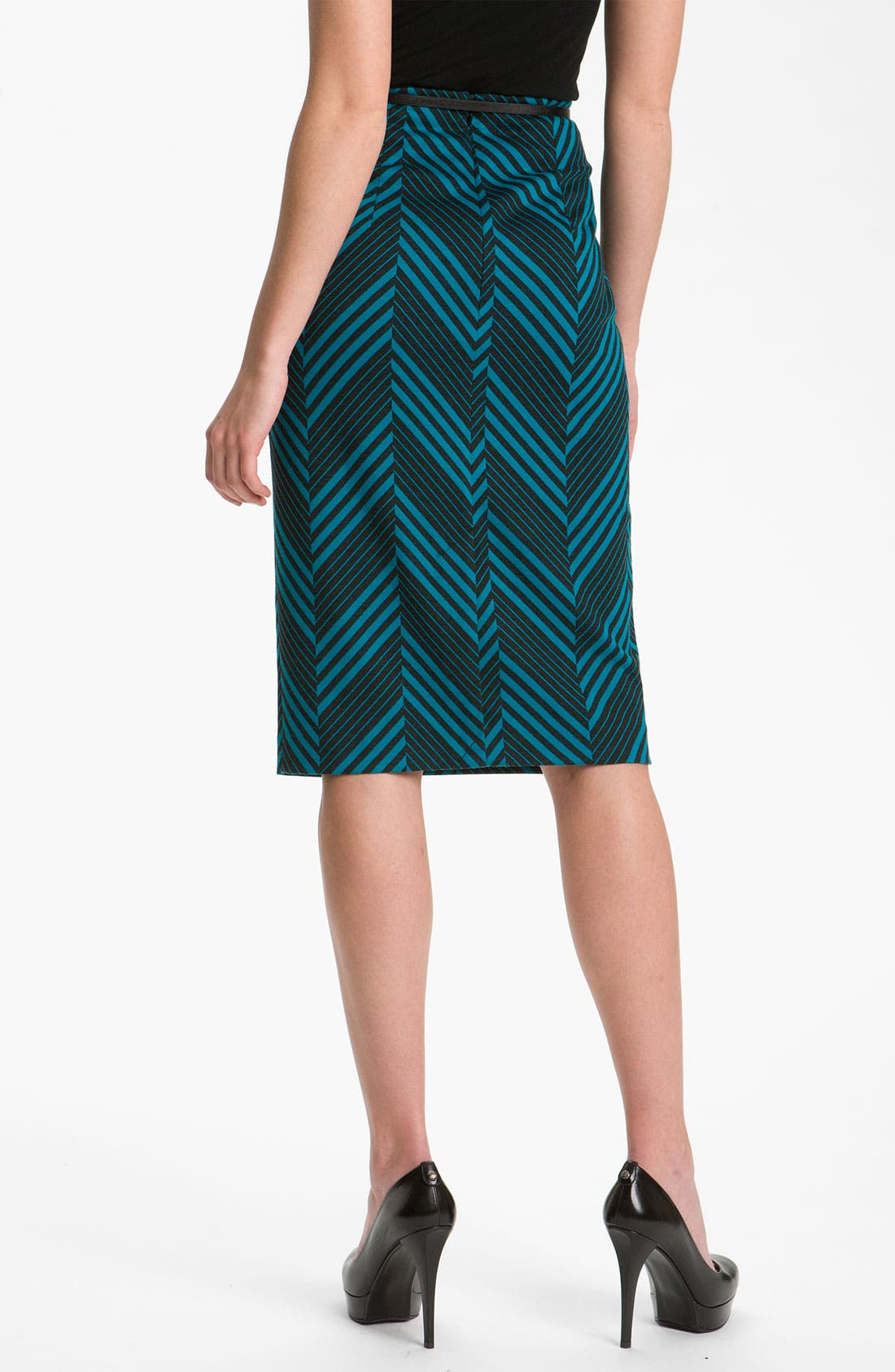 Belted Ponte Skirt,                             Alternate thumbnail 23, color,