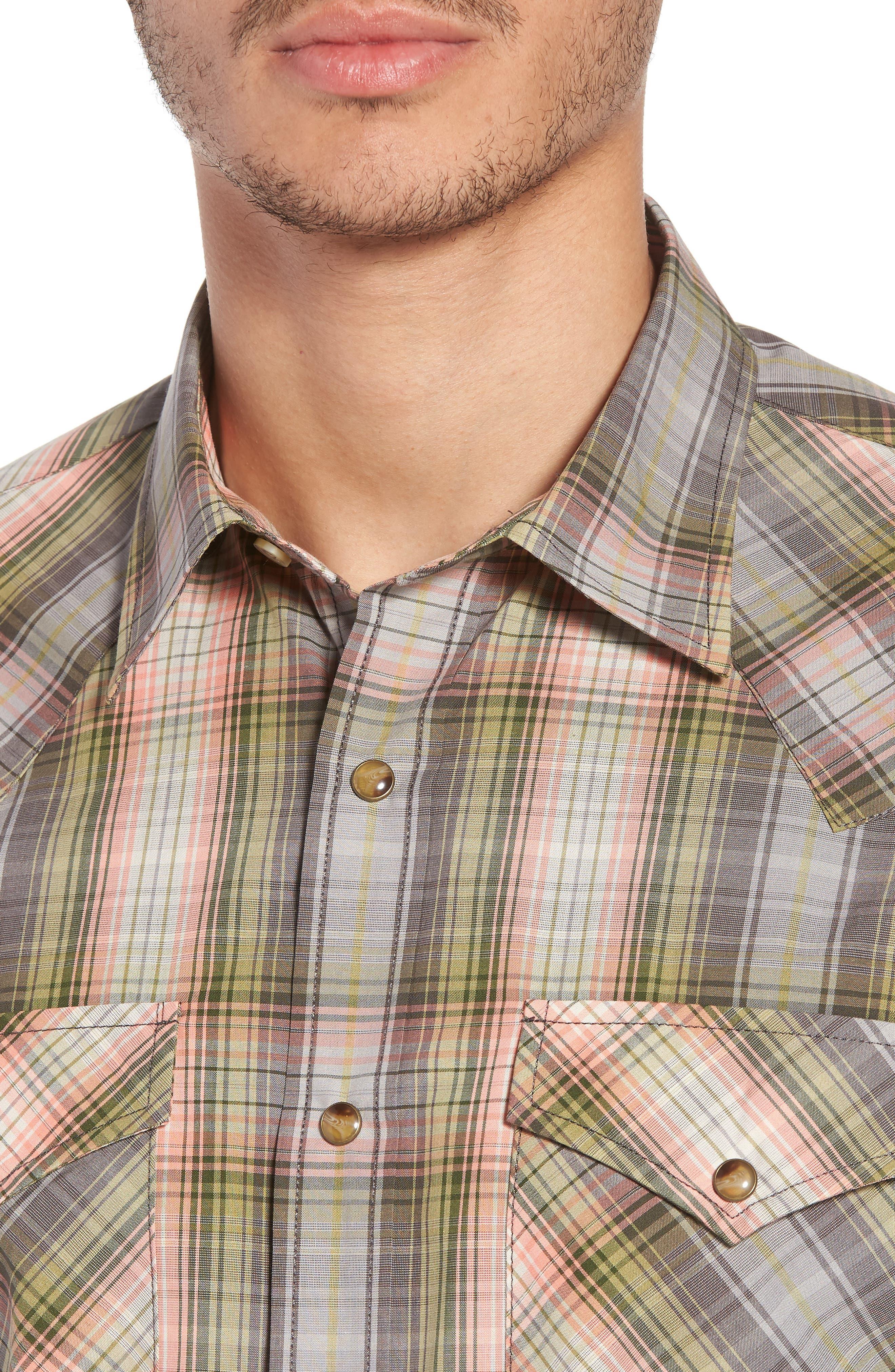 Frontier Regular Fit Plaid Short Sleeve Sport Shirt,                             Alternate thumbnail 7, color,