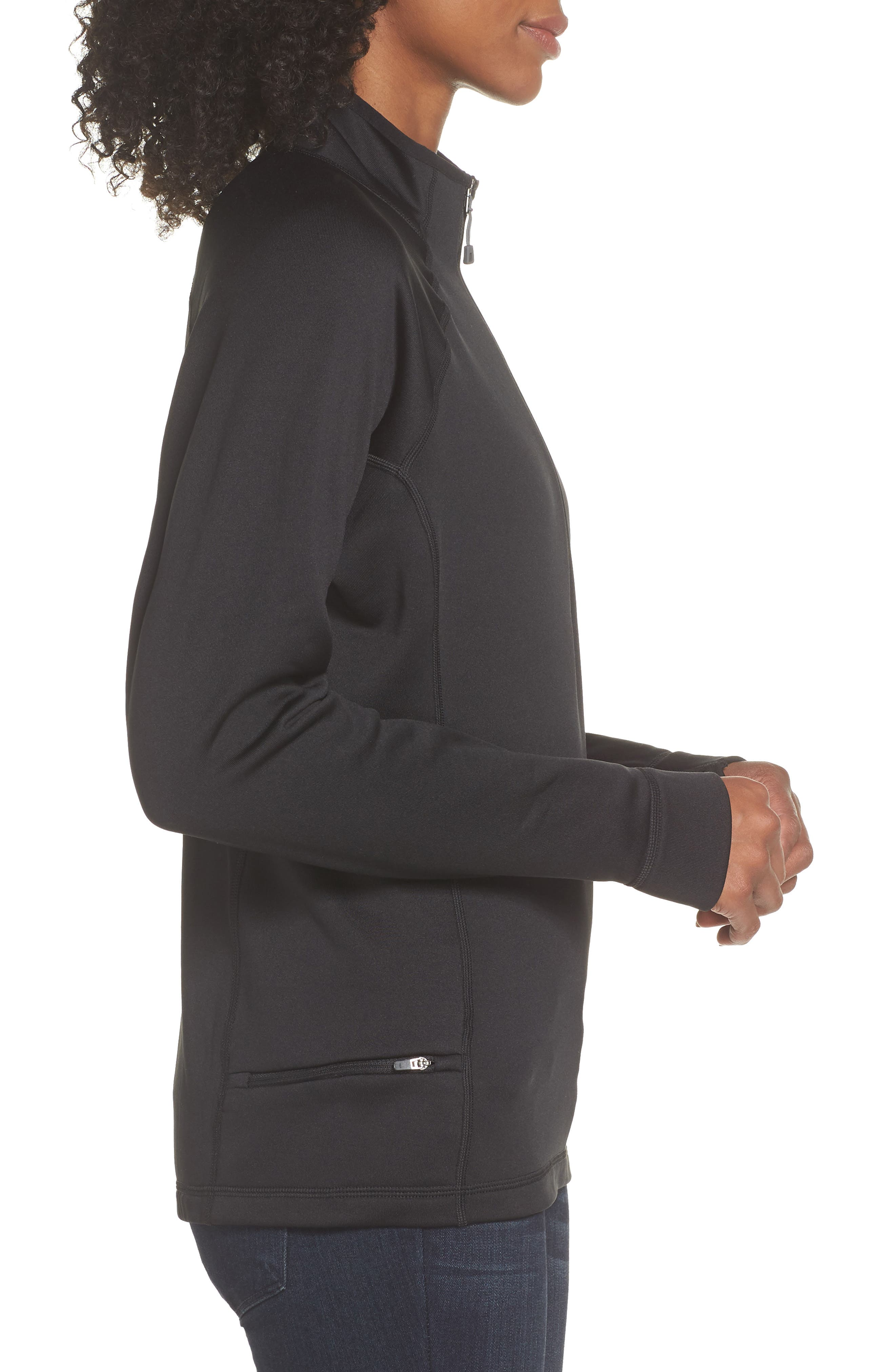 Crosstrek Quarter Zip Jacket,                             Alternate thumbnail 3, color,                             001