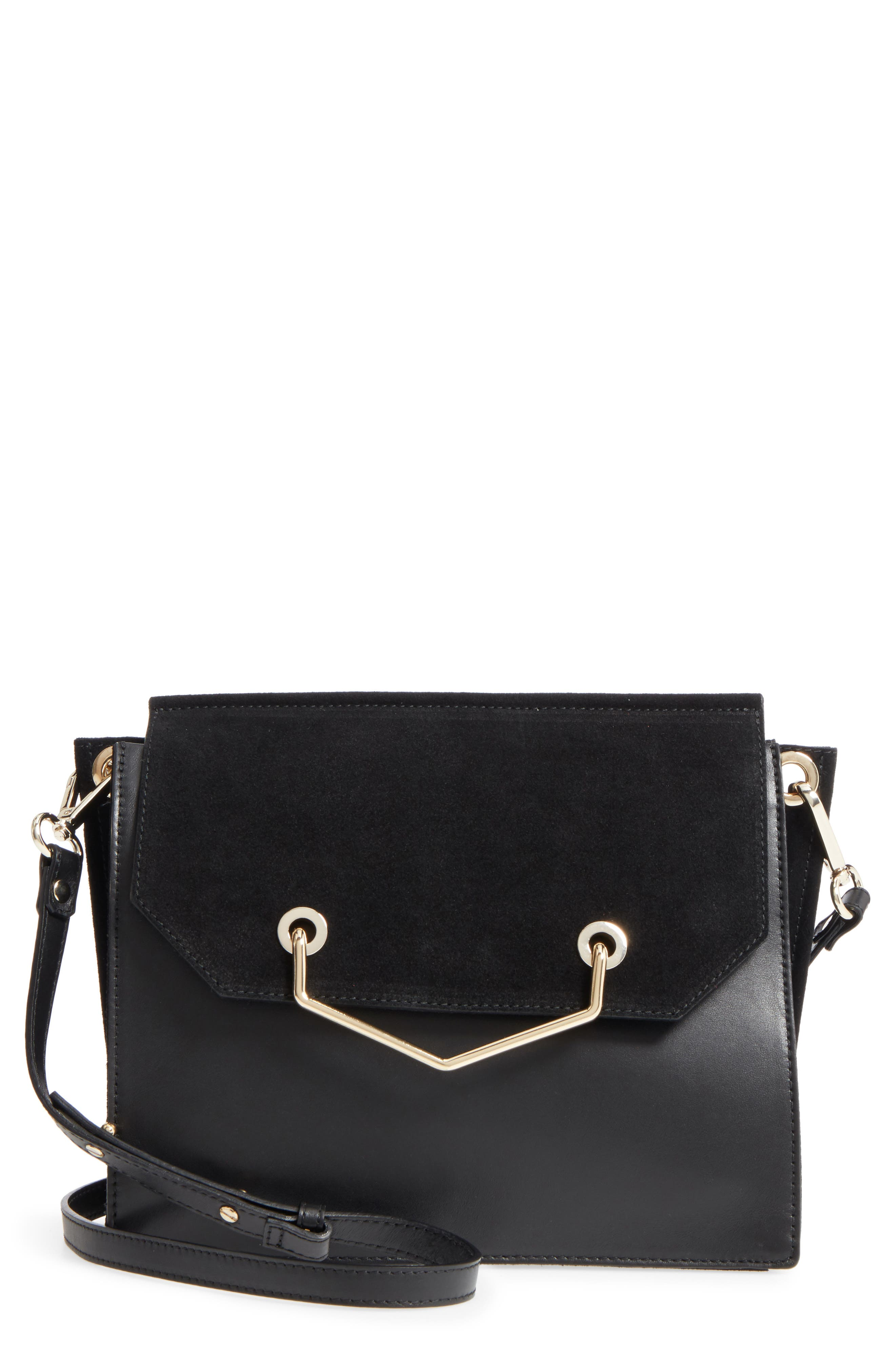 Premium Leather & Suede Soko Shoulder Bag,                             Main thumbnail 1, color,