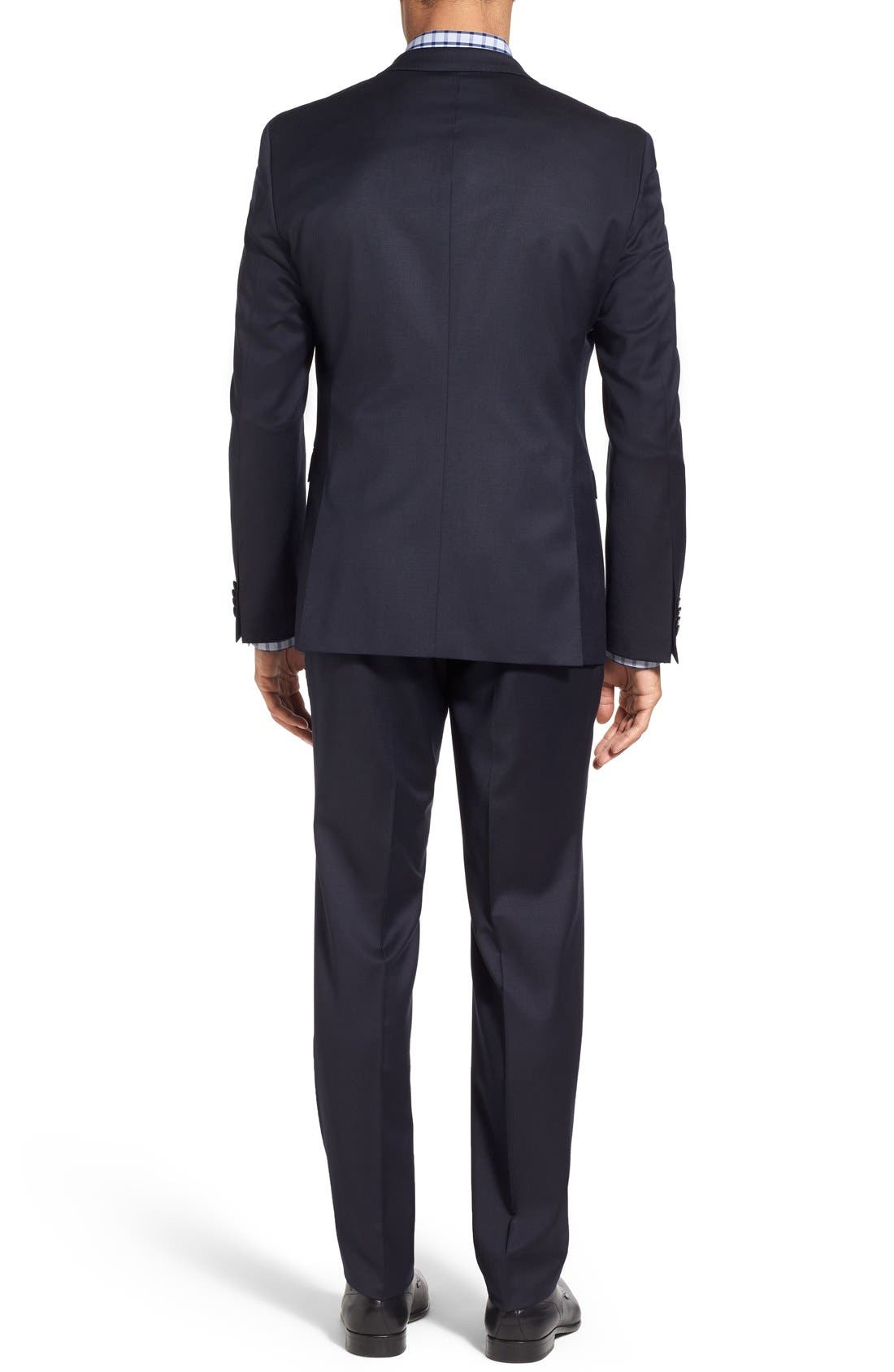 Ryan/Win Extra Trim Fit Solid Wool Suit,                             Alternate thumbnail 6, color,                             DARK BLUE