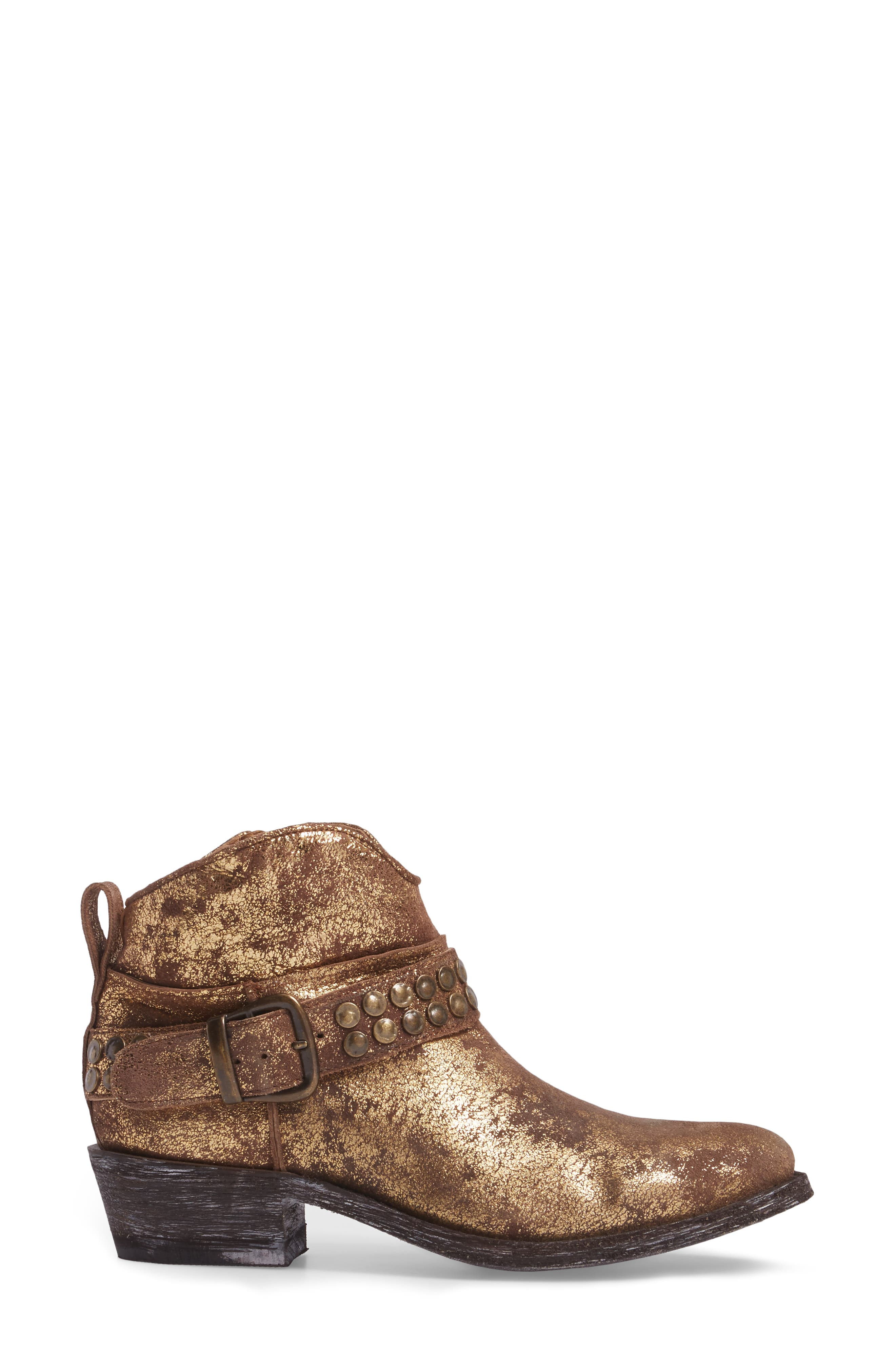 Serene Western Boot,                             Alternate thumbnail 3, color,                             COPPER LEATHER