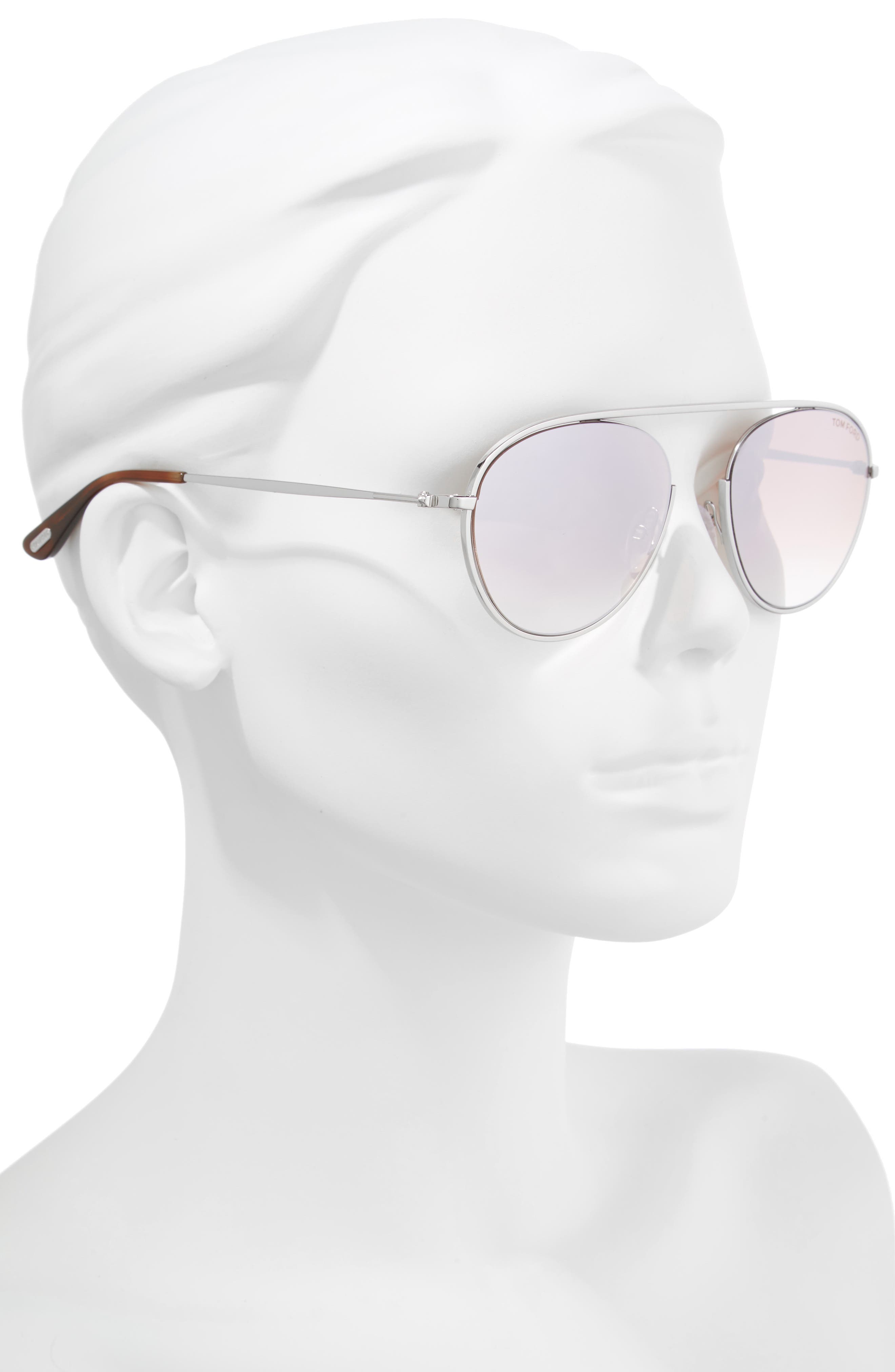 Keith 55mm Metal Aviator Sunglasses,                             Alternate thumbnail 2, color,                             040
