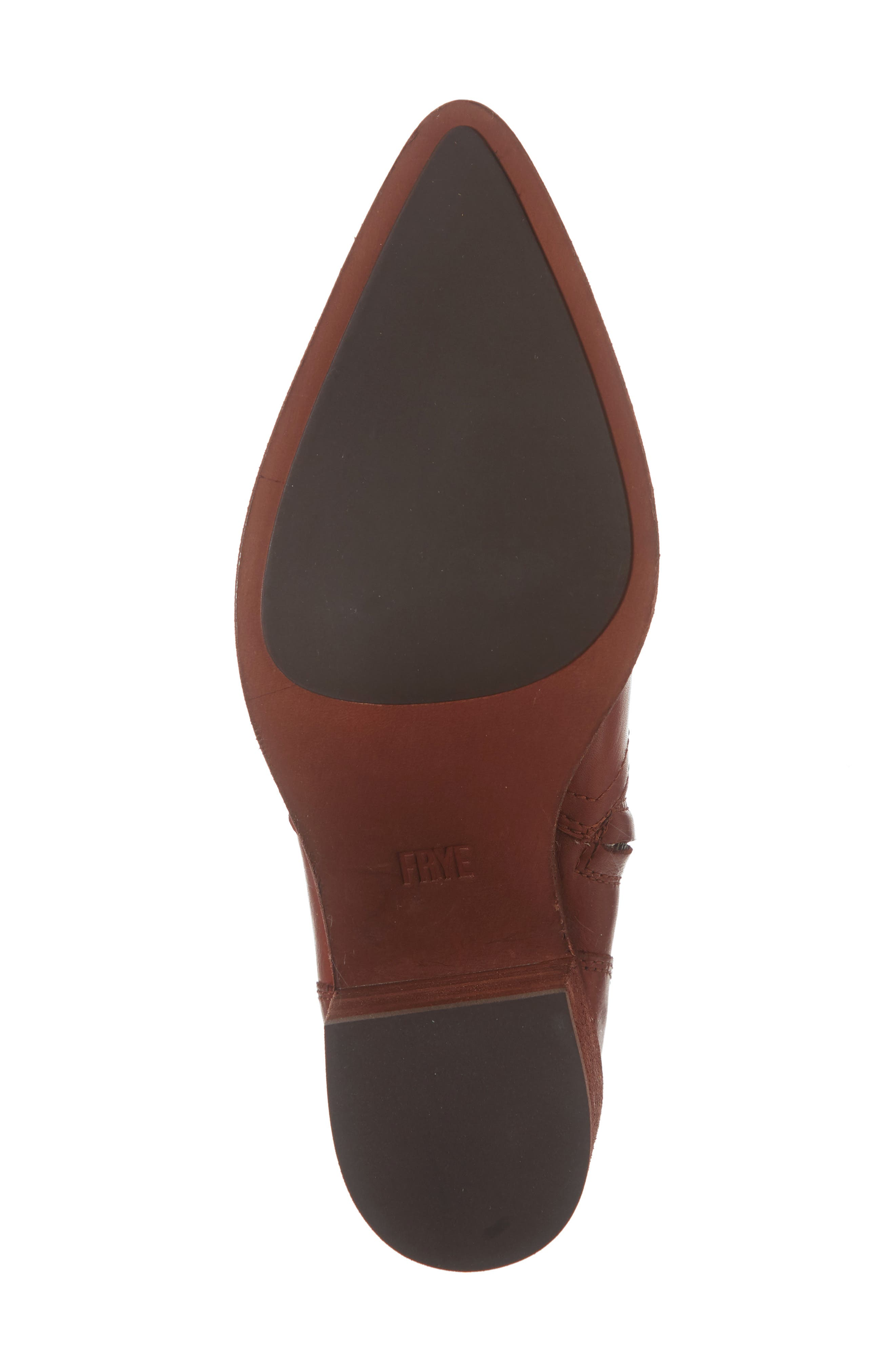 Flynn Bootie,                             Alternate thumbnail 6, color,                             RED CLAY LEATHER