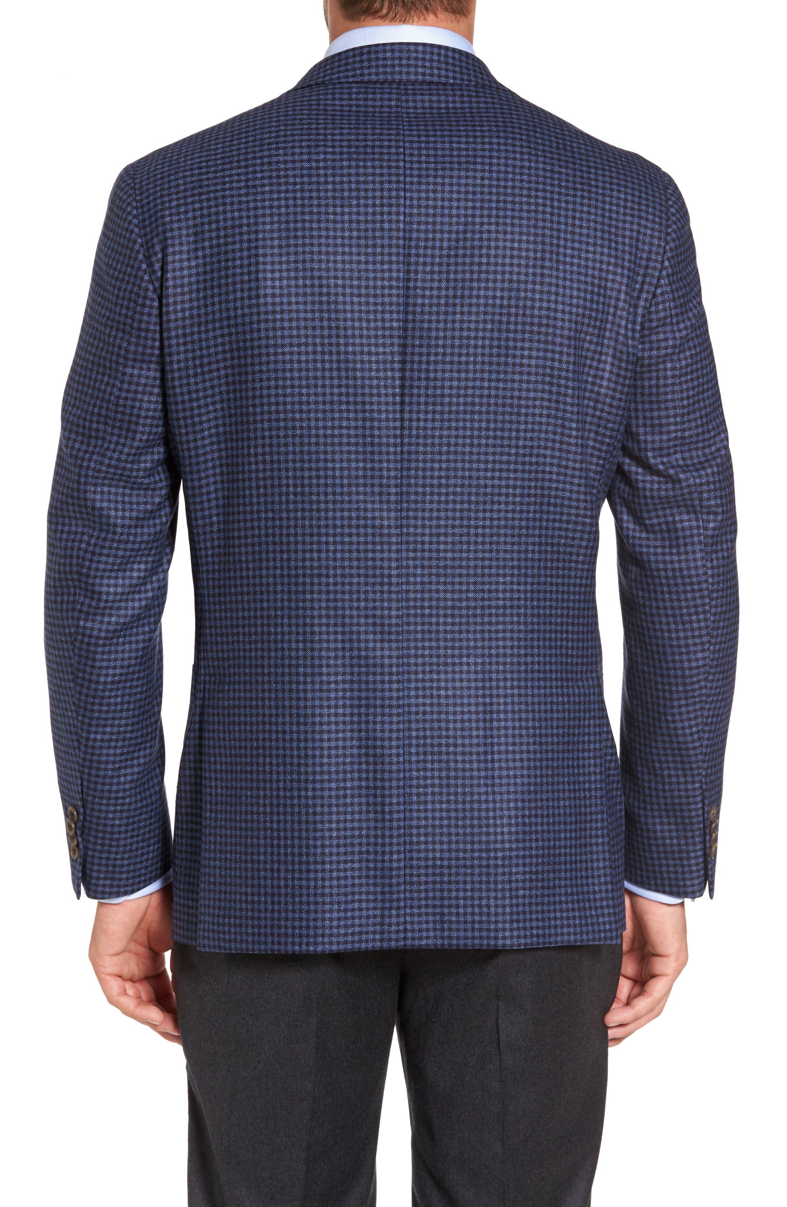 Aiden Classic Fit Check Wool & Cashmere Sport Coat,                             Alternate thumbnail 2, color,                             420