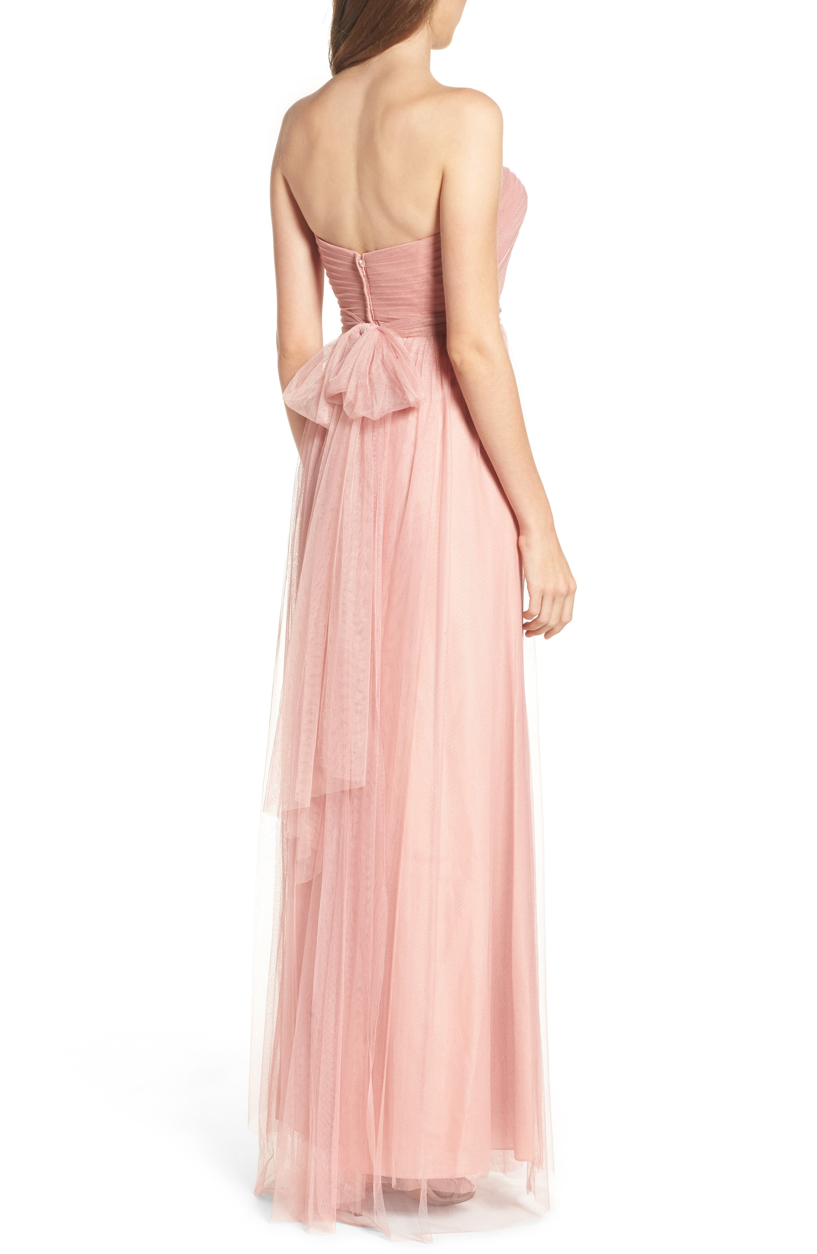 Annabelle Convertible Tulle Column Dress,                             Alternate thumbnail 71, color,
