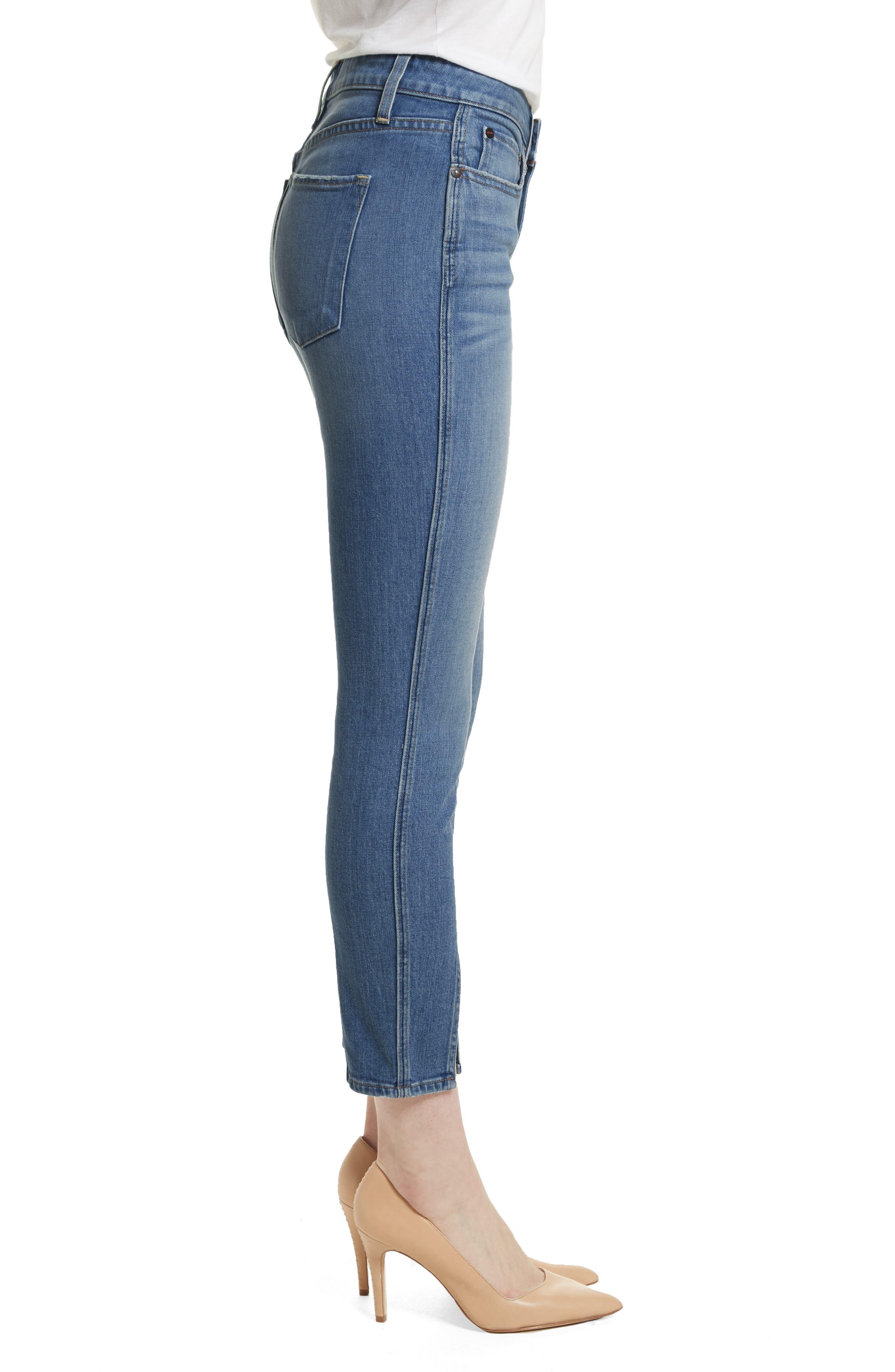 AO.LA Good Ankle Skinny Jeans,                             Alternate thumbnail 3, color,                             SWEET EMOTION