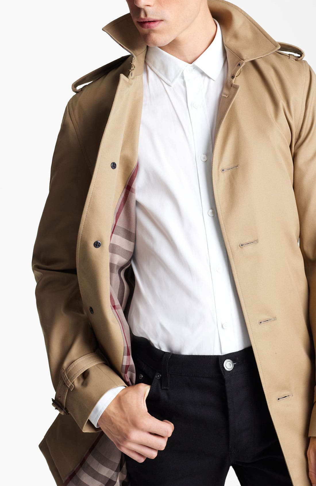 London 'Britton' Single Breasted Trench Coat,                             Alternate thumbnail 2, color,                             250