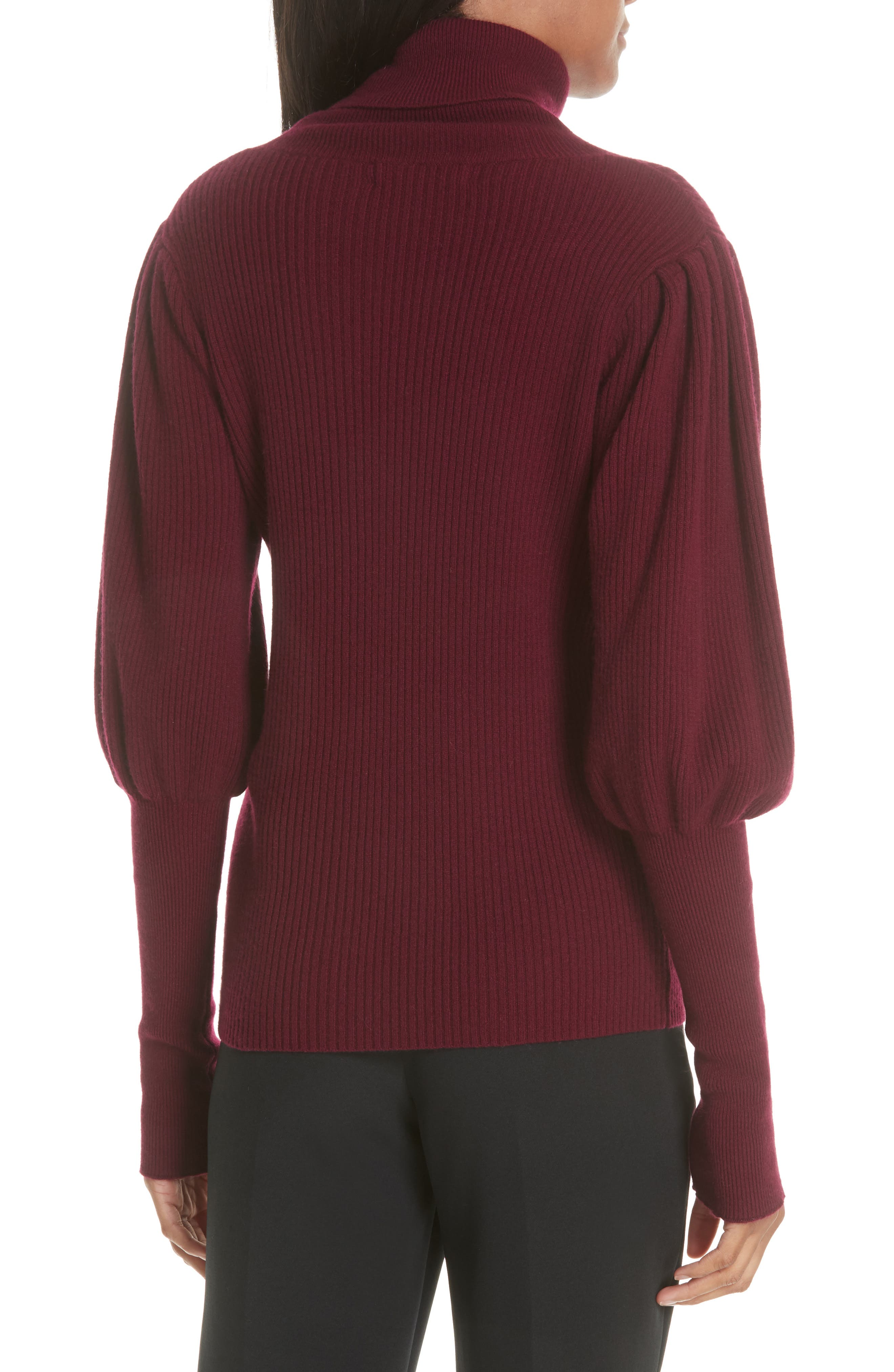 Bishop Sleeve Cashmere Sweater,                             Alternate thumbnail 2, color,                             933