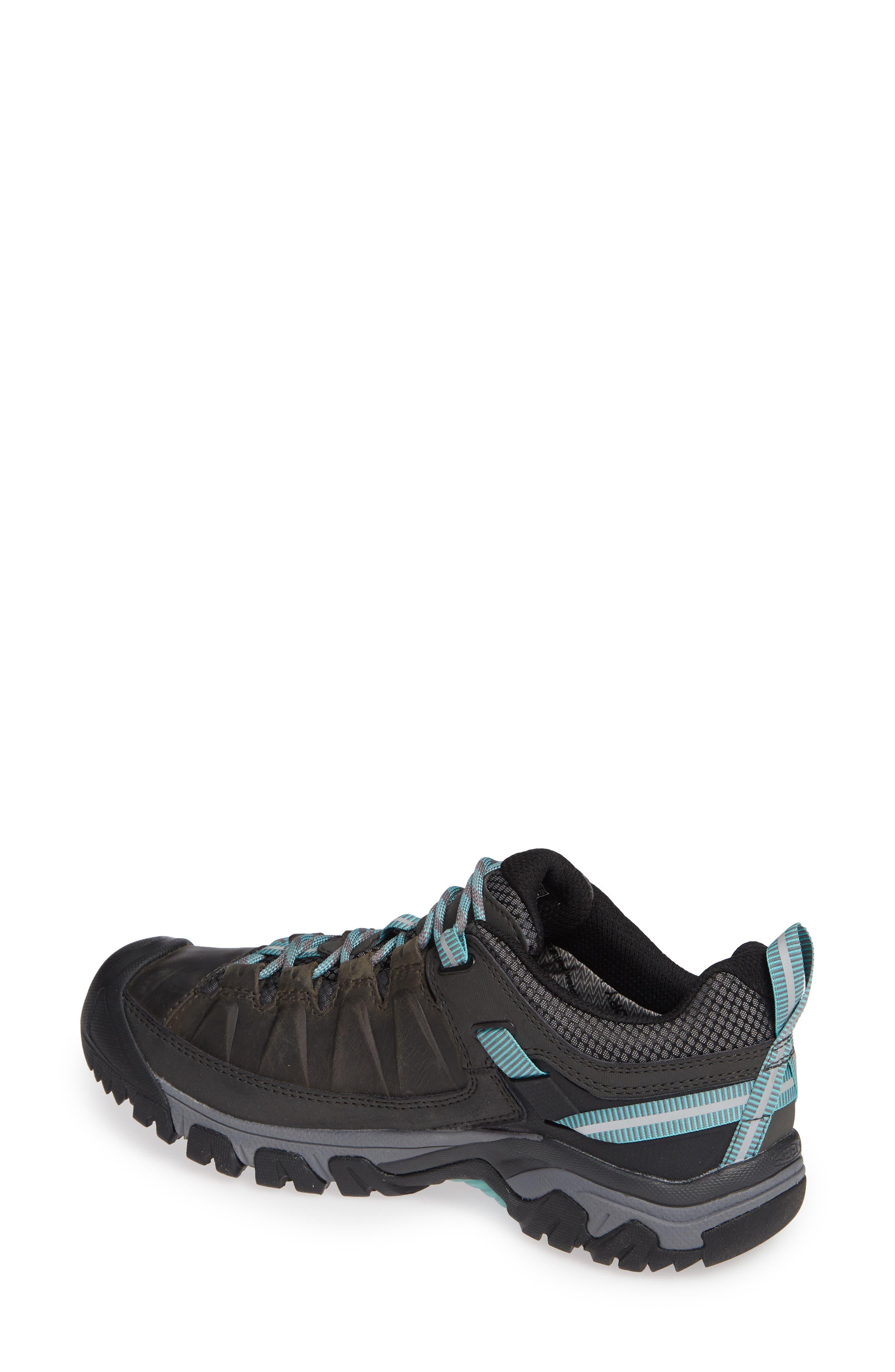 Targhee III Waterproof Hiking Shoe,                             Alternate thumbnail 2, color,                             ALCATRAZ/ TURQUOISE LEATHER