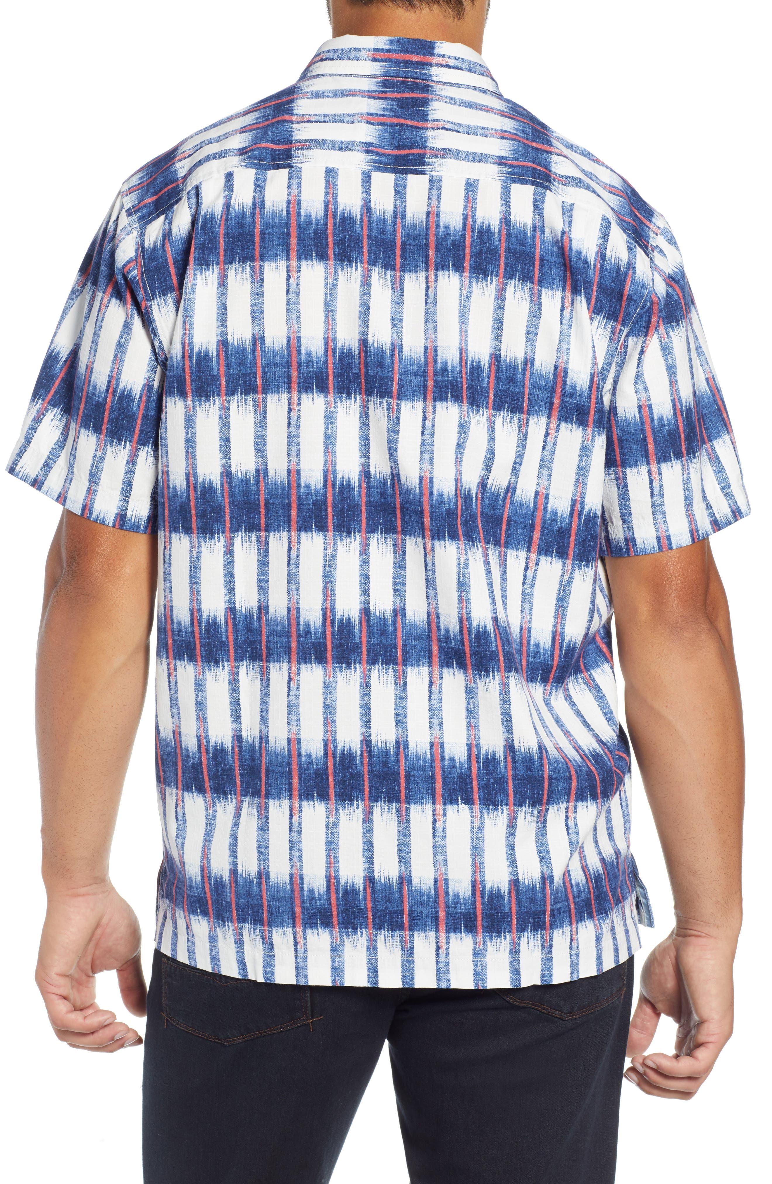 Fresco Falls Regular Fit Sport Shirt,                             Alternate thumbnail 3, color,                             DOCKSIDE BLUE