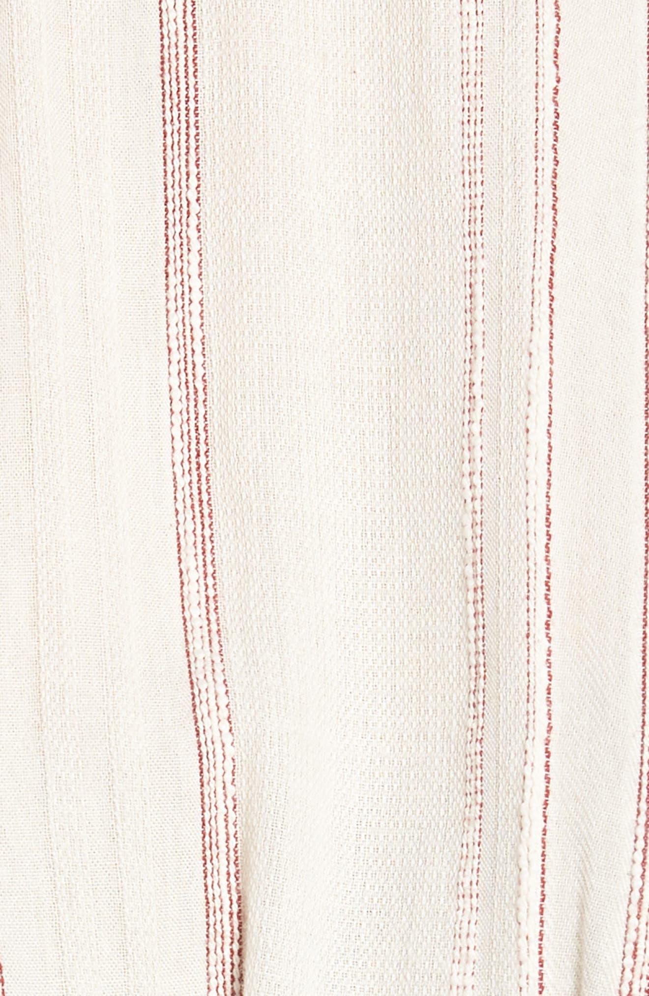Marian Stripe Ruffle Minidress,                             Alternate thumbnail 6, color,                             600