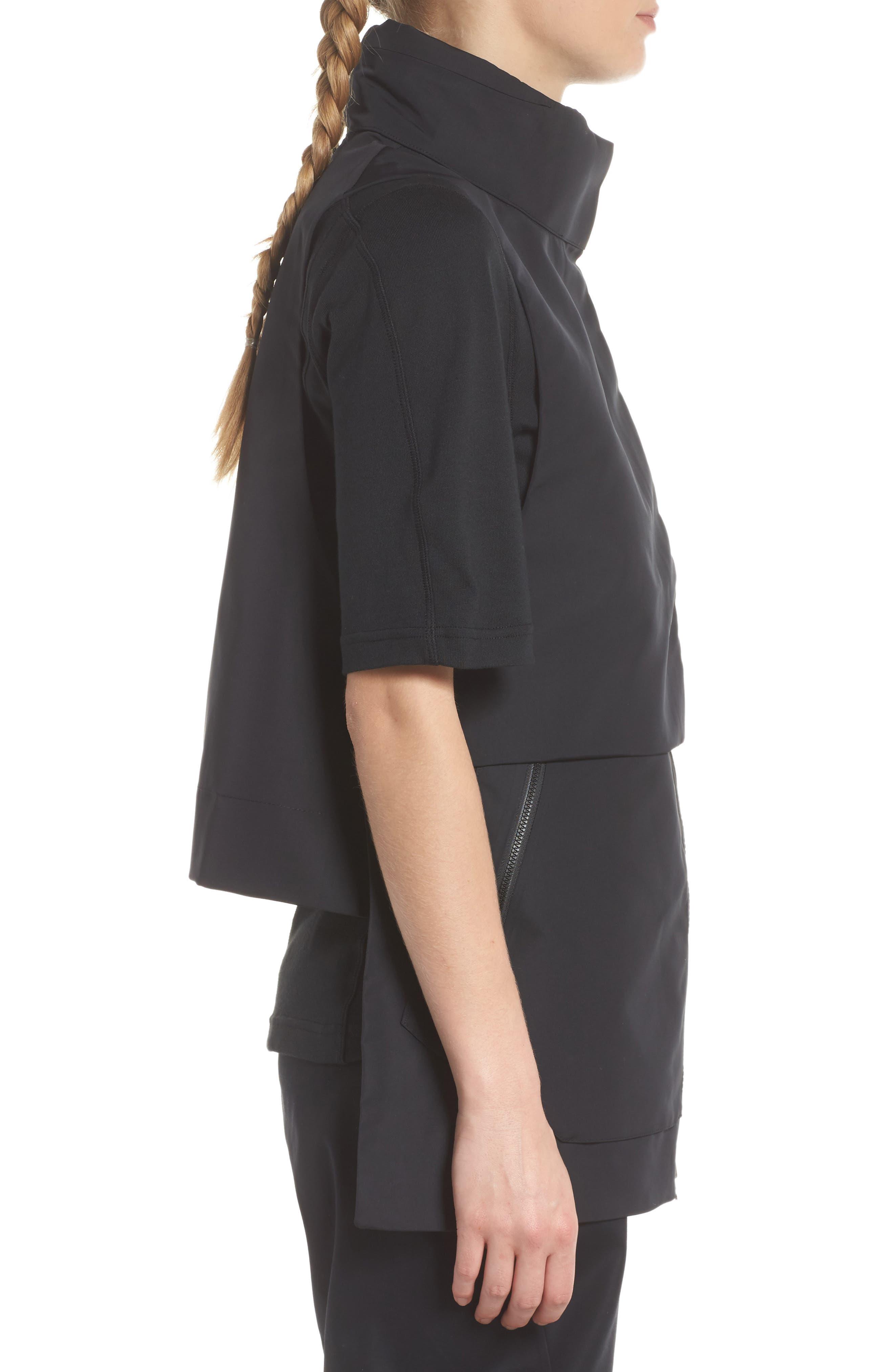 NikeLab ACG Water Repellent Women's Hooded Vest,                             Alternate thumbnail 4, color,                             010