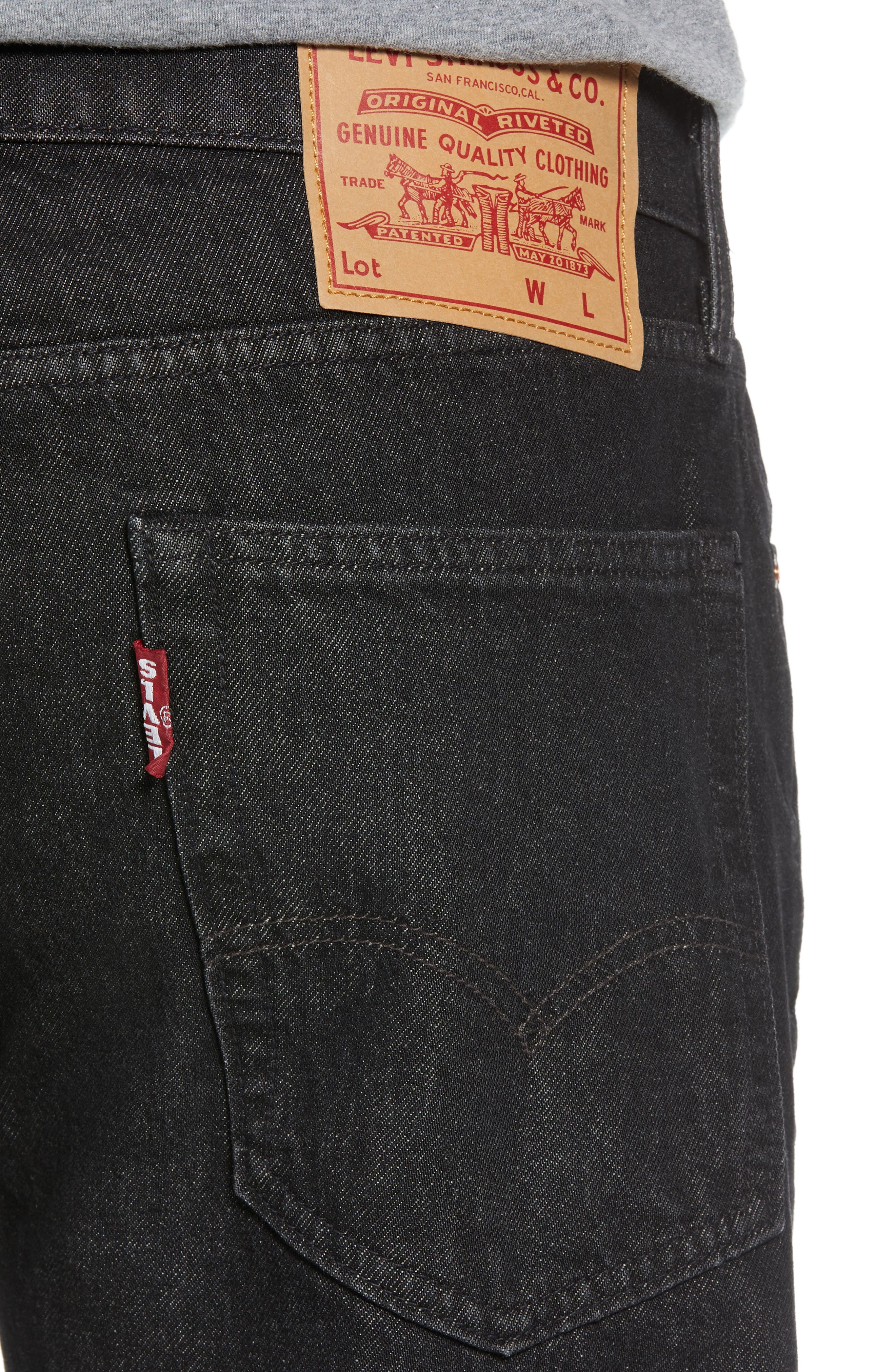Hi-Ball Straight Fit Jeans,                             Alternate thumbnail 4, color,                             001